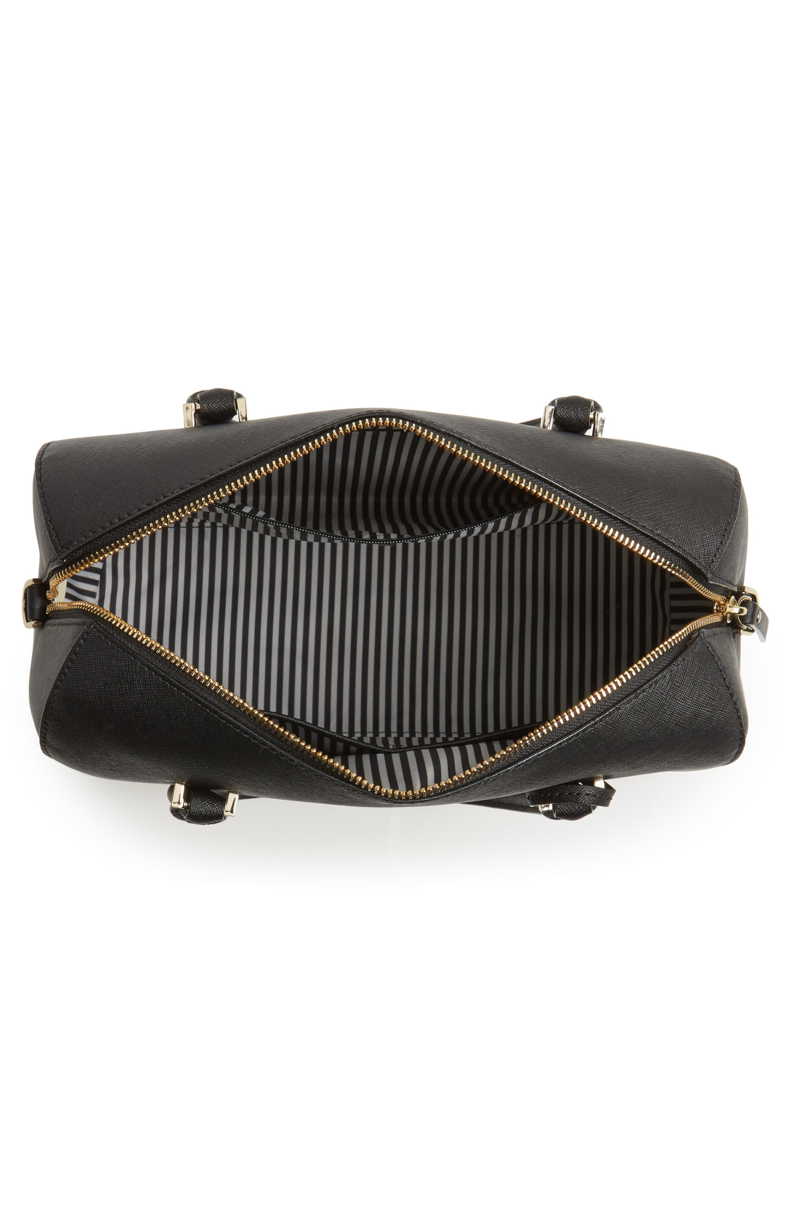mega cameron street - lane leather satchel,                             Alternate thumbnail 4, color,                             001