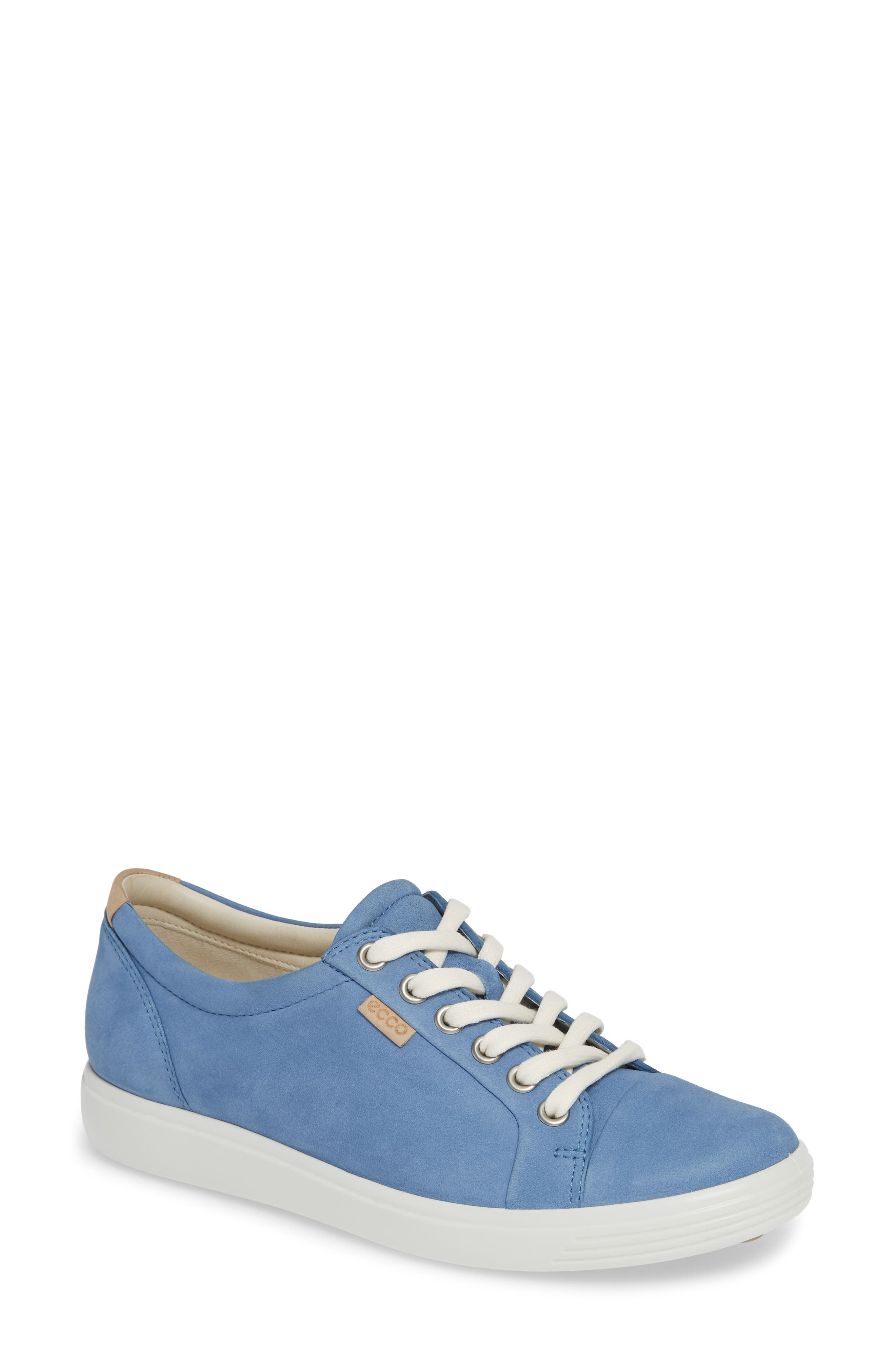 ECCO,                             Soft 7 Sneaker,                             Main thumbnail 1, color,                             RETRO BLUE LEATHER