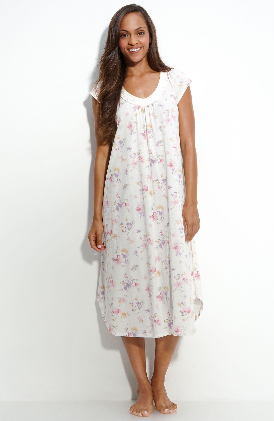 CAROLE HOCHMAN,                             Pima Cotton Nightgown,                             Main thumbnail 1, color,                             108