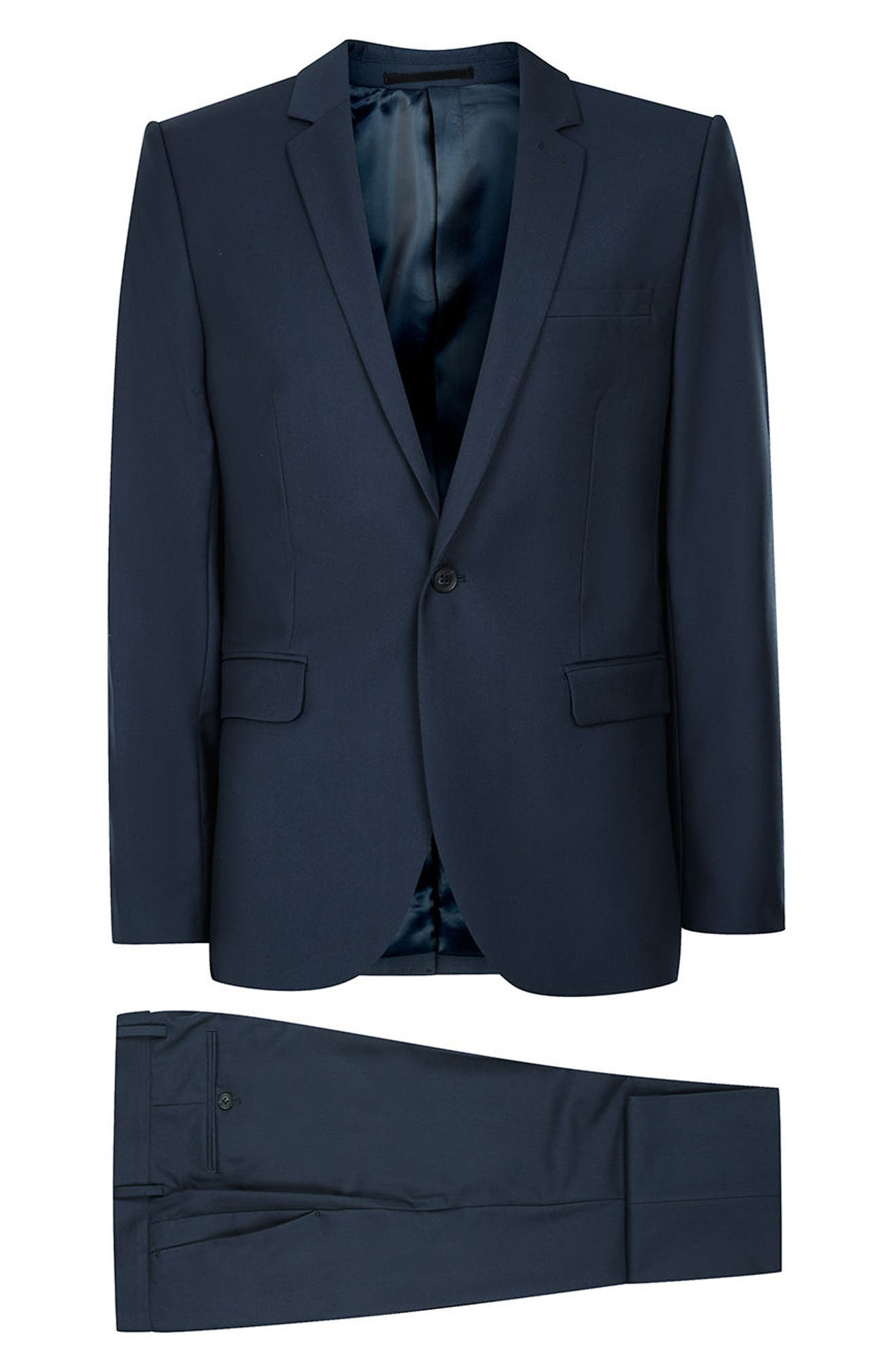 Skinny Fit Suit Jacket,                             Alternate thumbnail 5, color,                             420