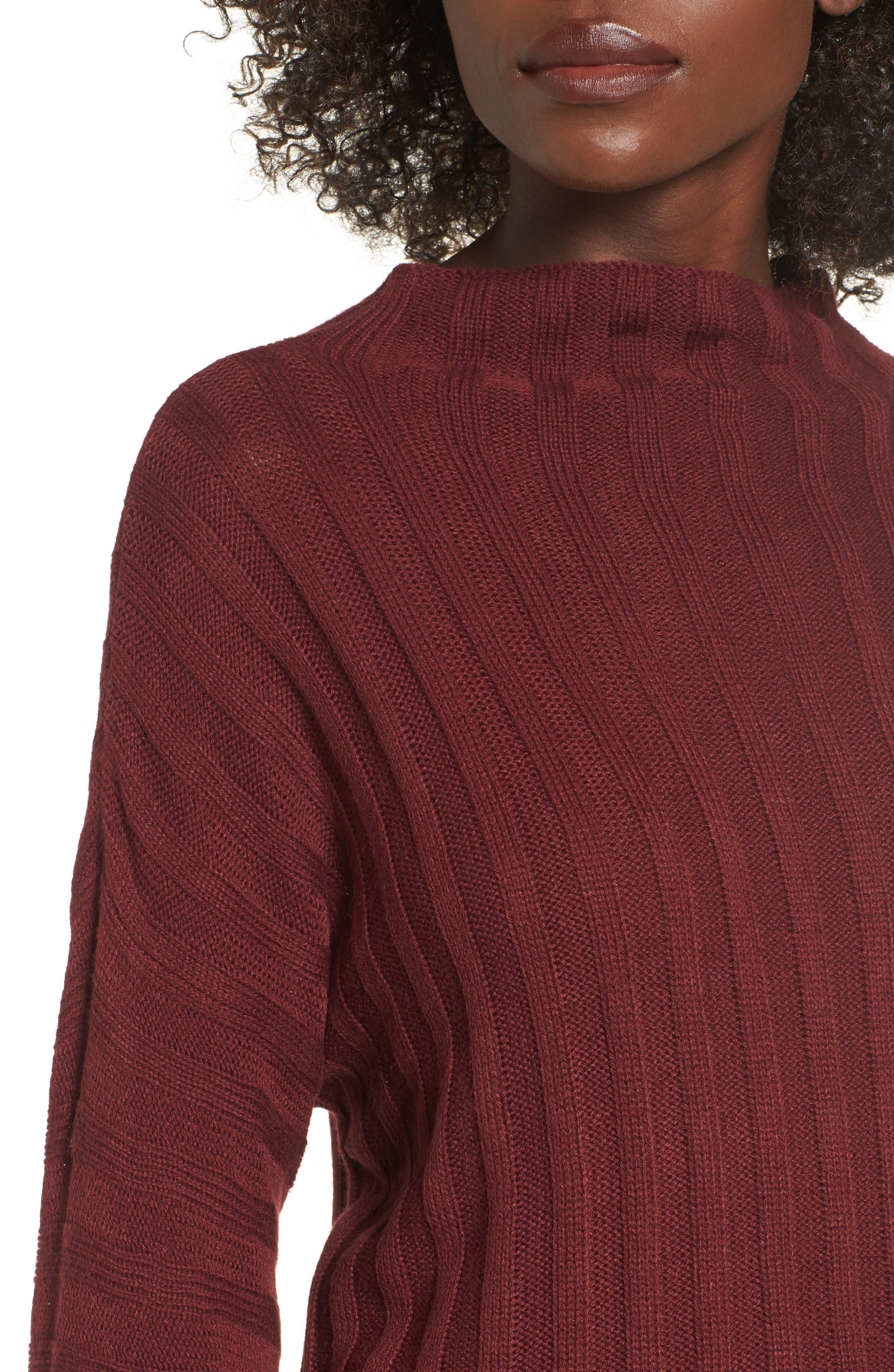 Wide Rib Mock Neck Sweater,                             Alternate thumbnail 12, color,