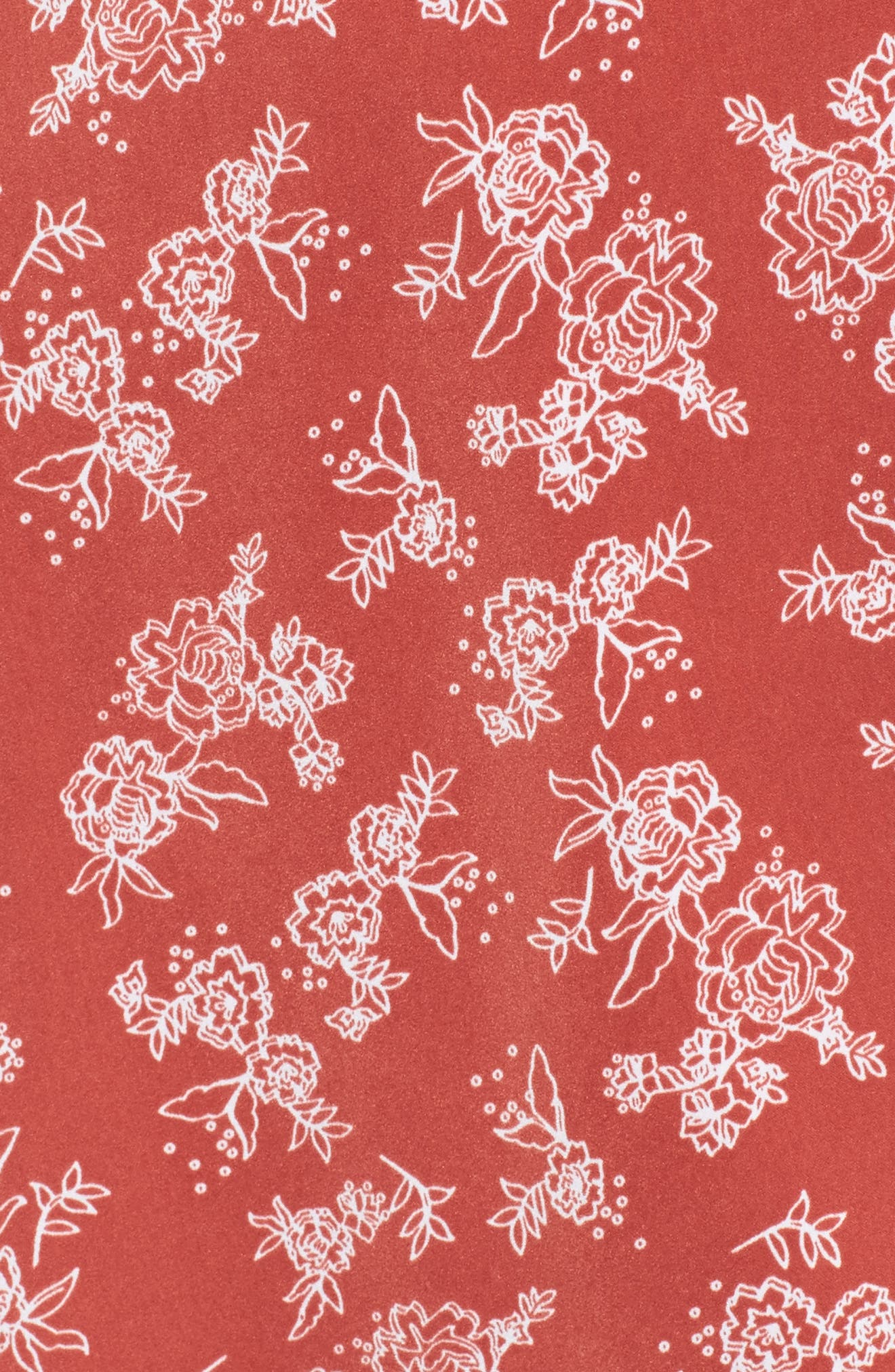 Ophelia Floral Print Wrap Dress,                             Alternate thumbnail 5, color,                             600