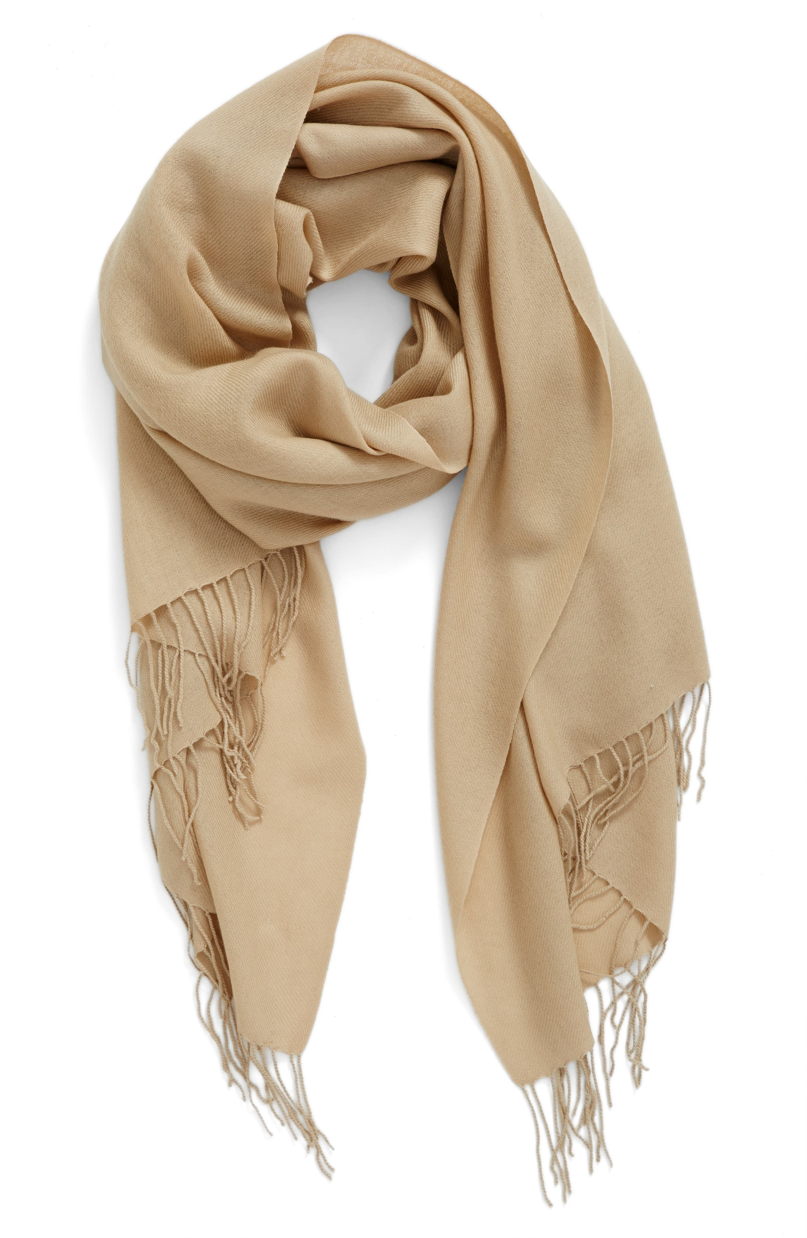 Tissue Weight Wool & Cashmere Scarf,                             Main thumbnail 23, color,