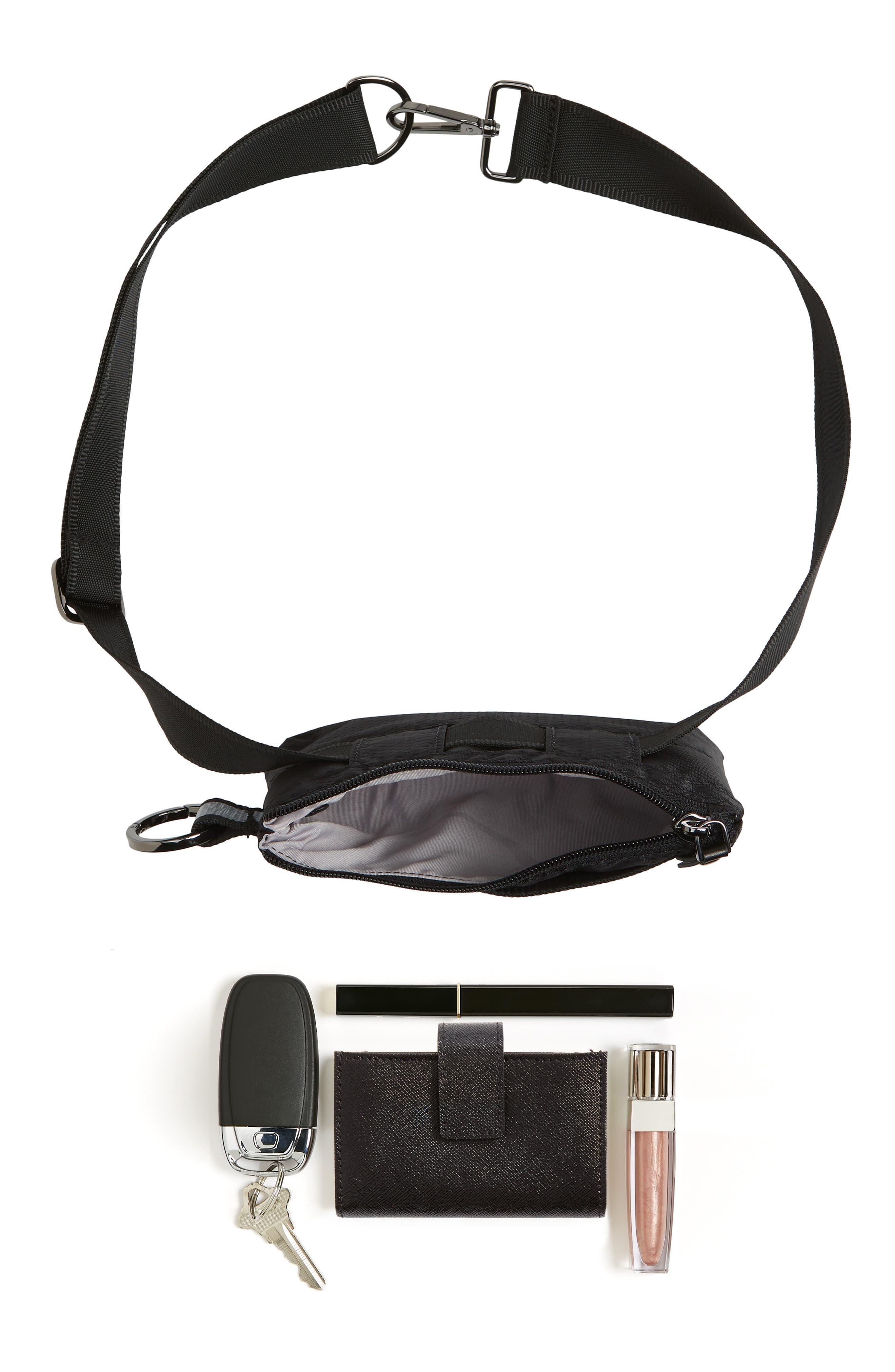 Urban Clutch Convertible Belt Bag,                             Alternate thumbnail 10, color,                             BLACK/ REFLECTIVE STRIPE