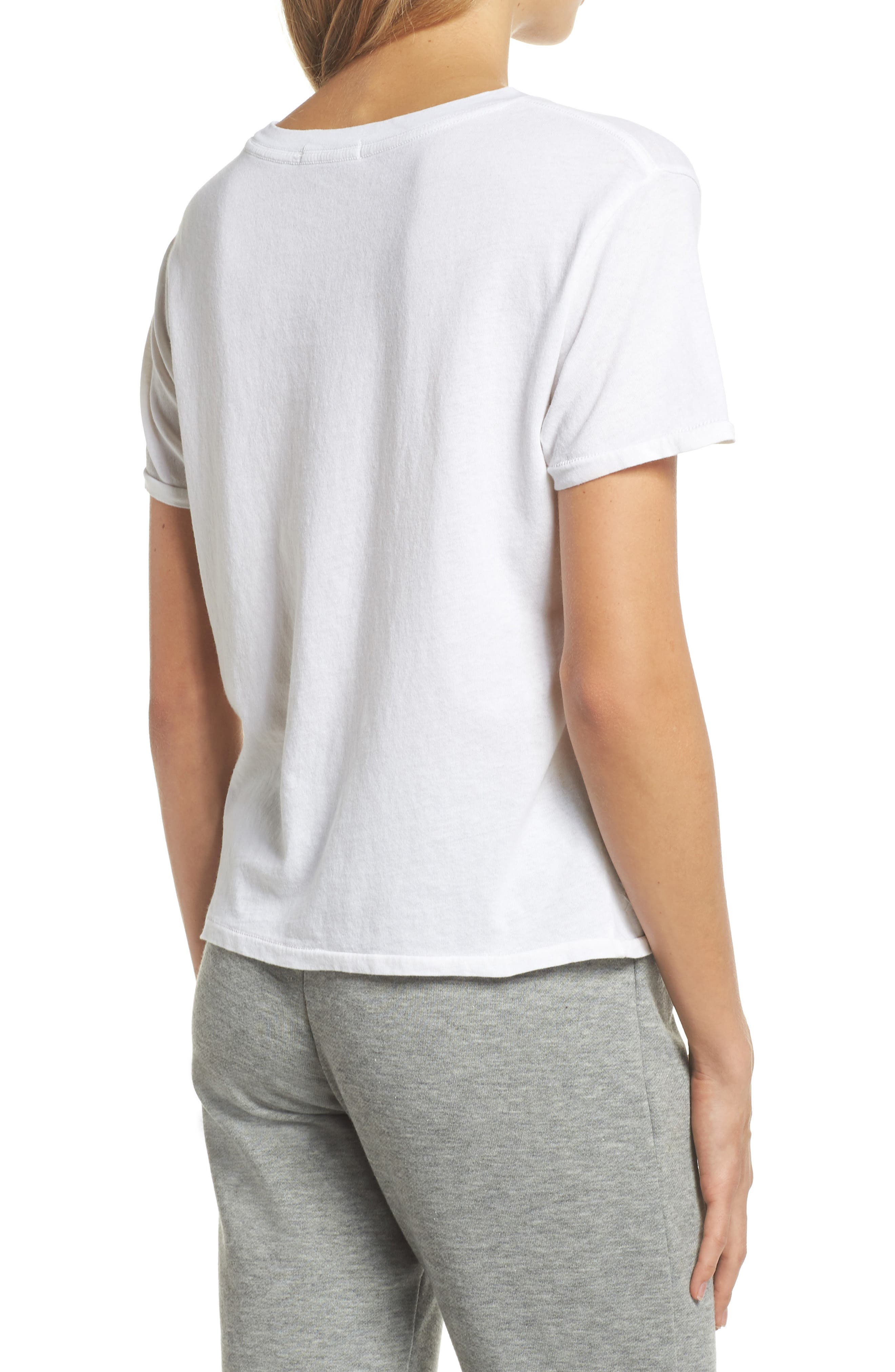 Crop Lounge Tee,                             Alternate thumbnail 2, color,                             100