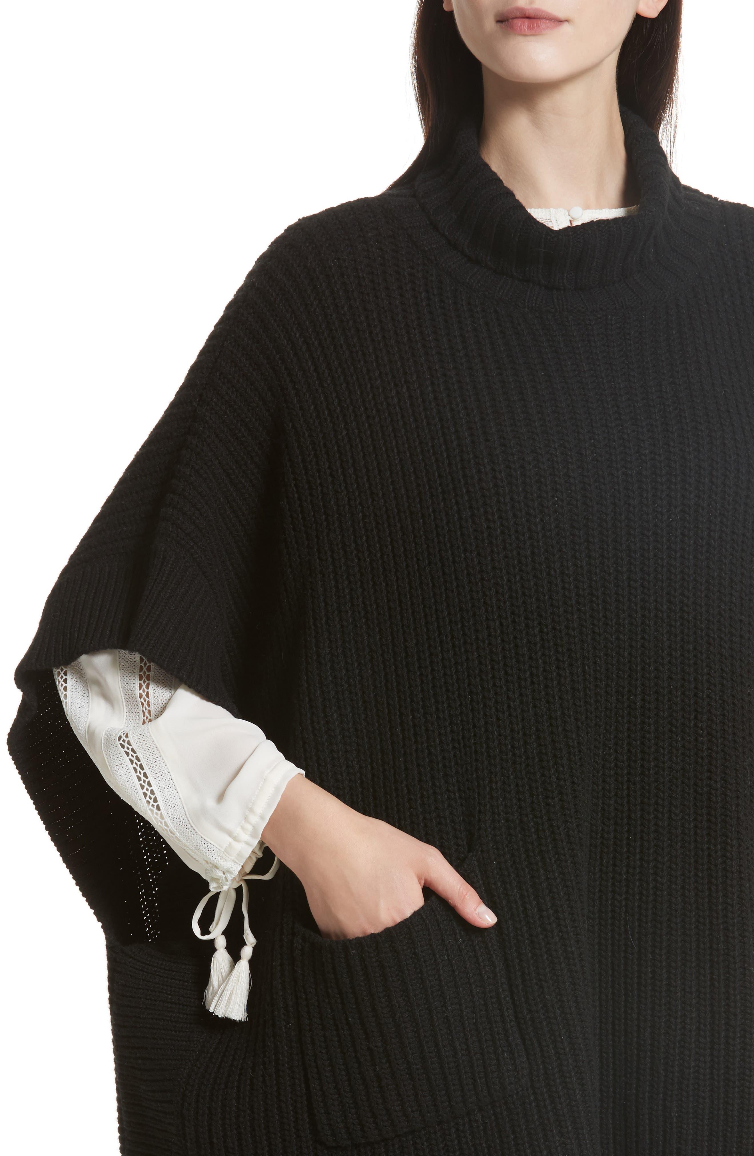 Serina Oversize Sweater,                             Alternate thumbnail 4, color,                             007