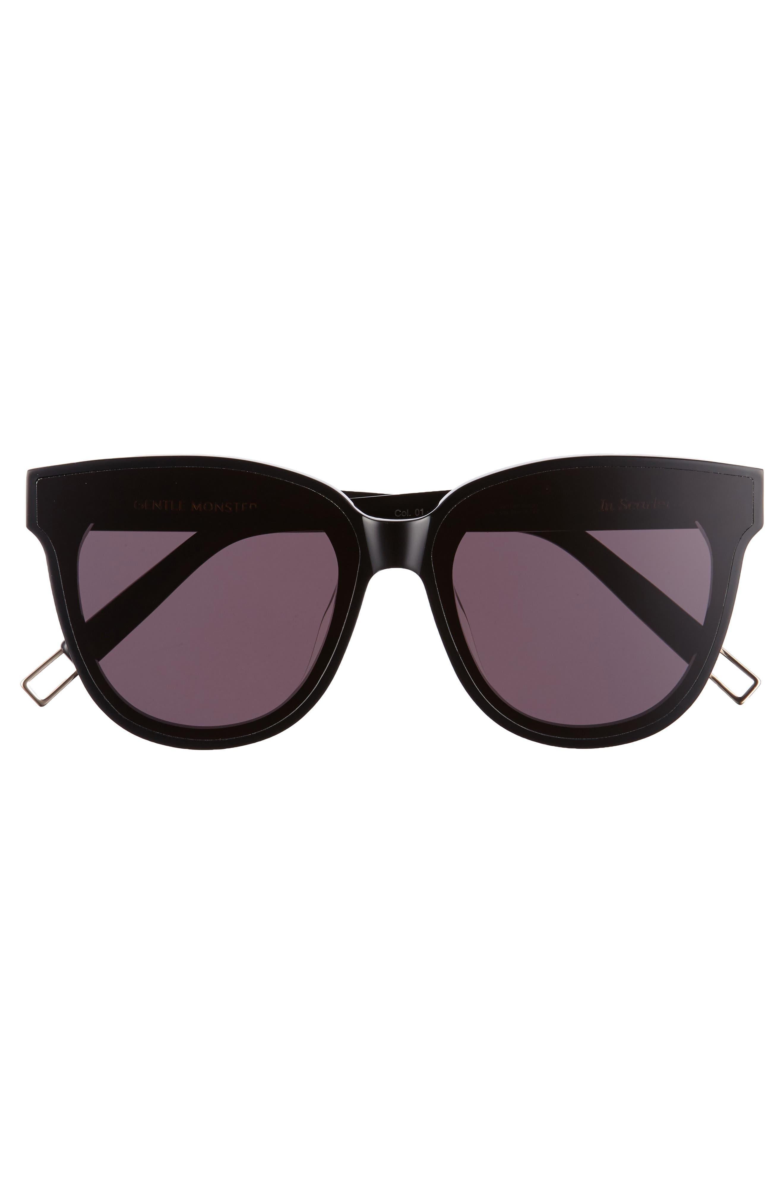 In Scarlet 68mm Oversize Cat Eye Sunglasses,                             Alternate thumbnail 3, color,                             001