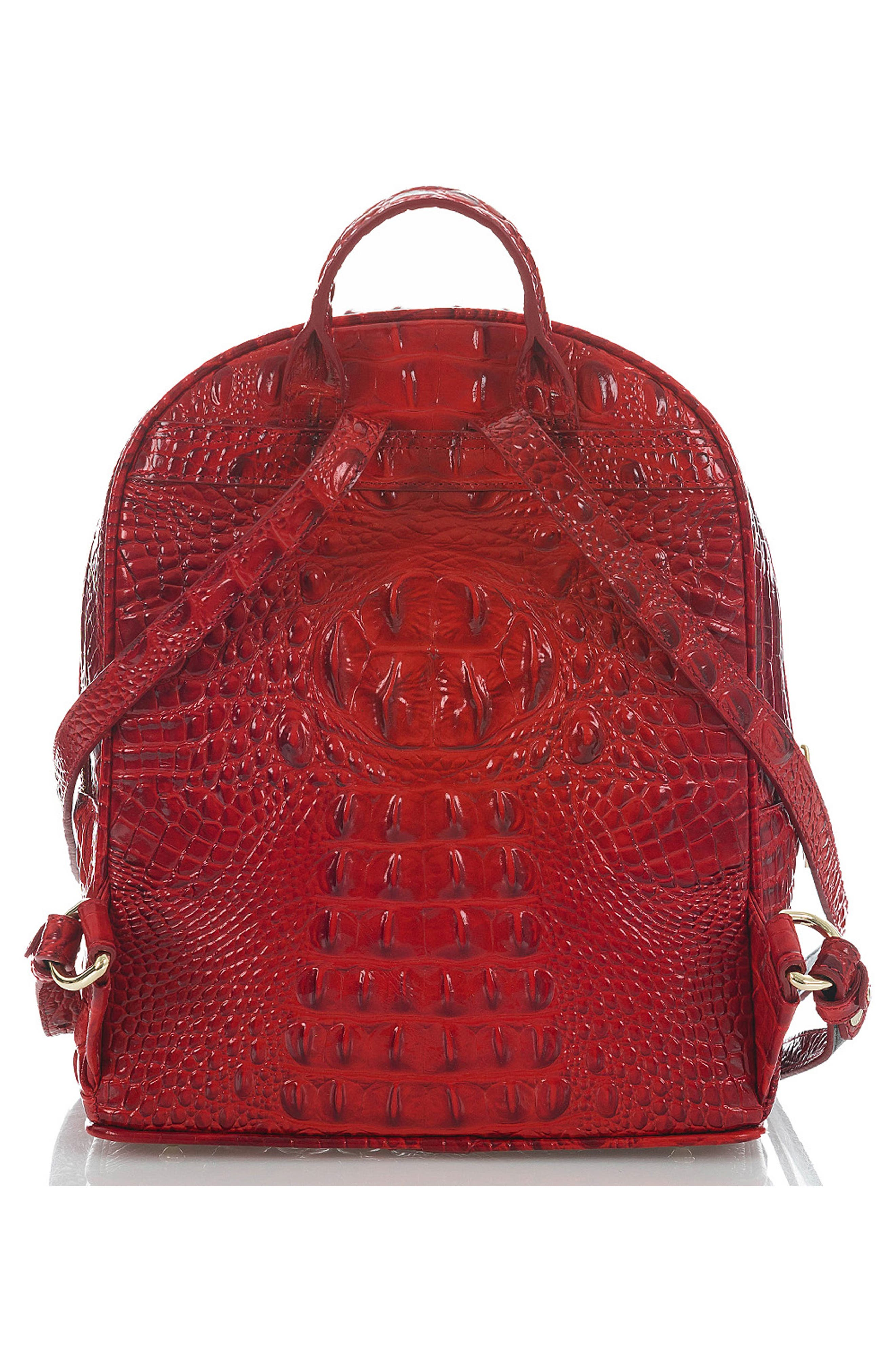 Mini Dartmouth Leather Backpack,                             Alternate thumbnail 2, color,                             SCARLET