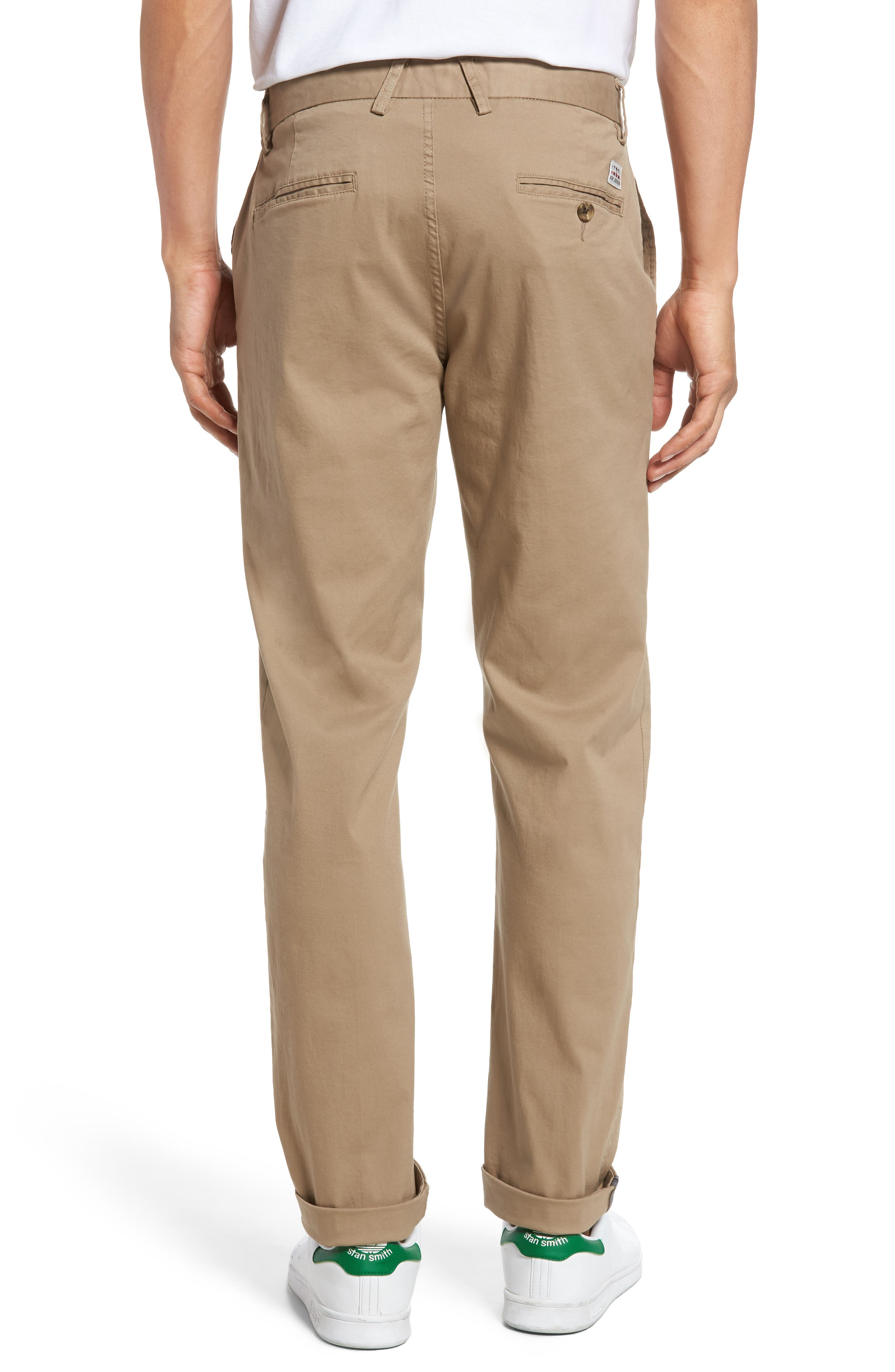Slim Fit Stretch Chinos,                             Alternate thumbnail 18, color,