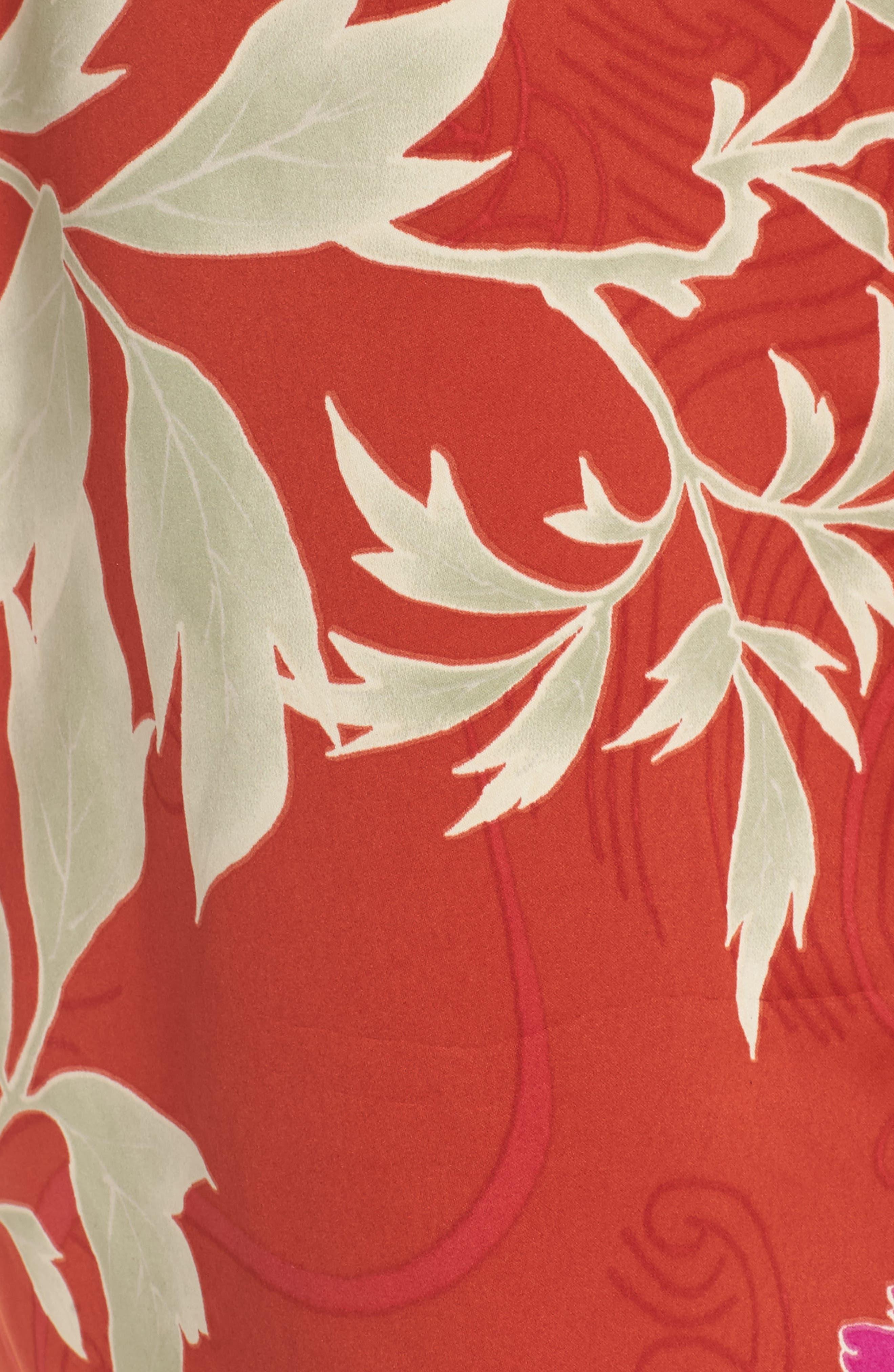 Auburn Floral Print Wrap,                             Alternate thumbnail 5, color,                             600