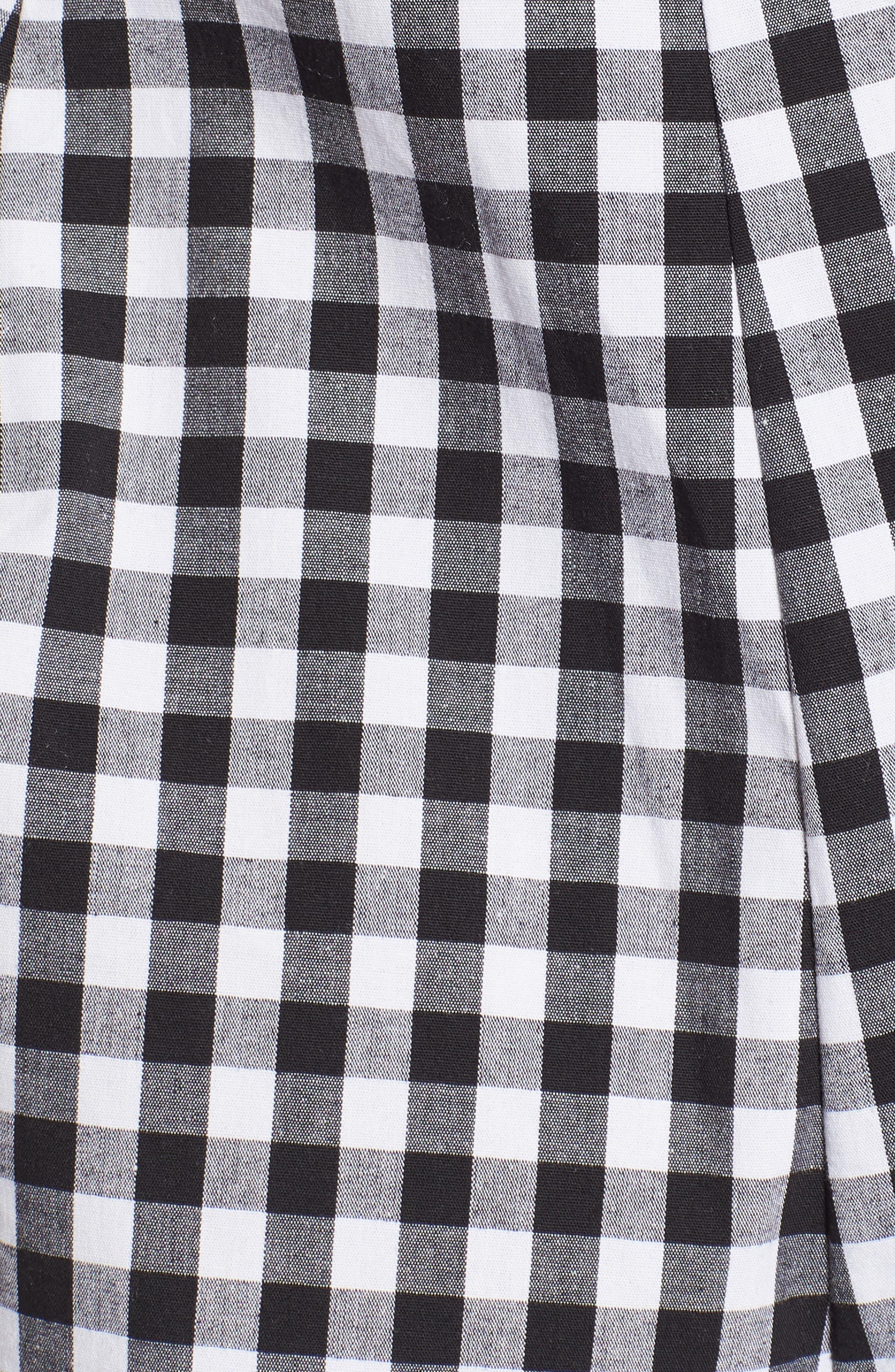 Tie Front Cropped Jumpsuit,                             Alternate thumbnail 5, color,                             001