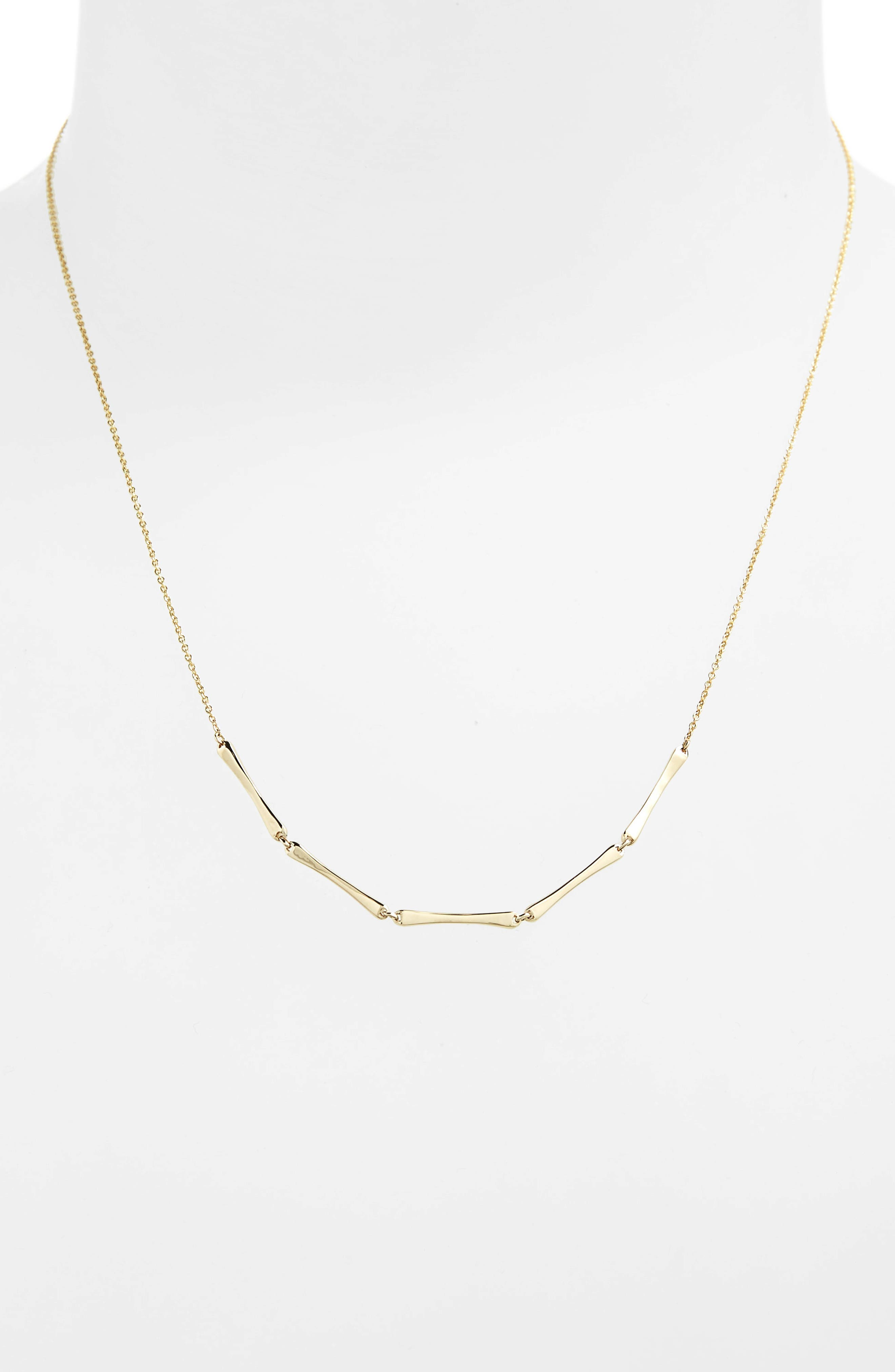 Bar Station Necklace,                             Alternate thumbnail 2, color,                             YELLOW GOLD