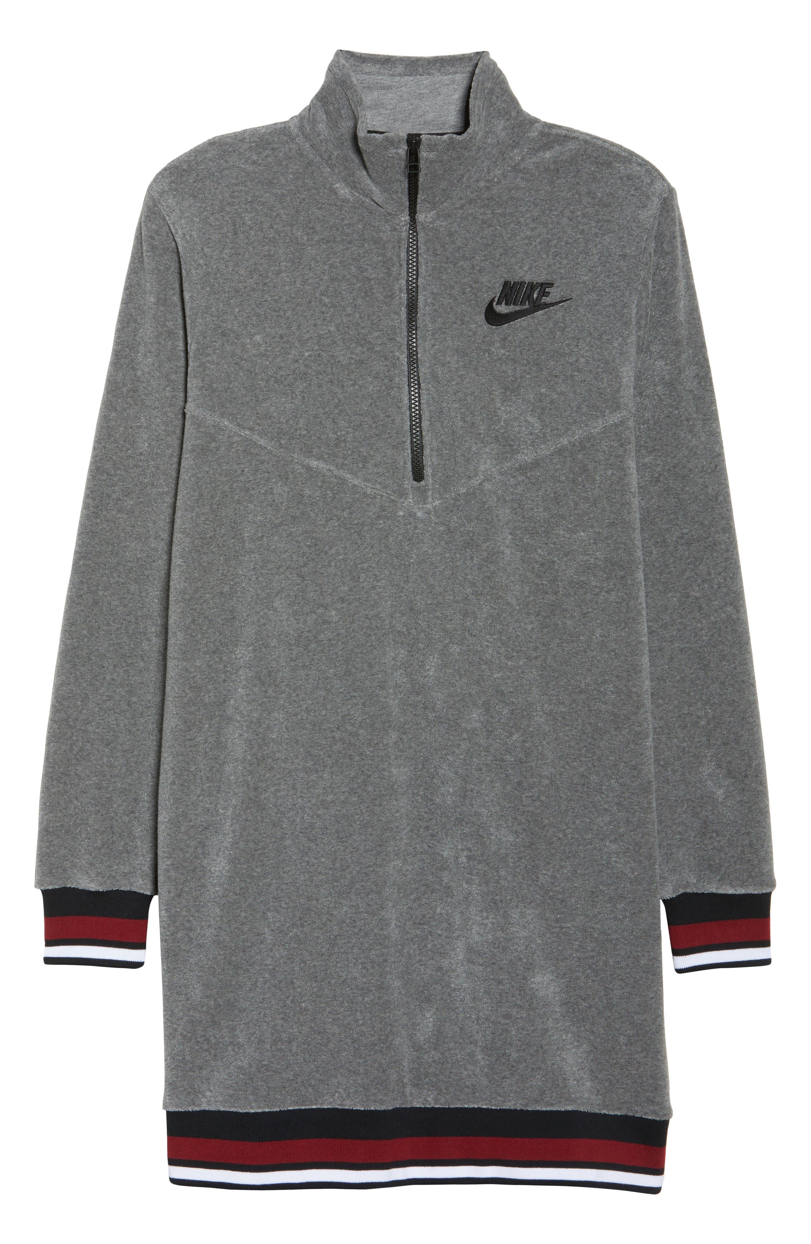 Sportswear French Terry Sweatshirt Dress,                             Alternate thumbnail 7, color,                             020