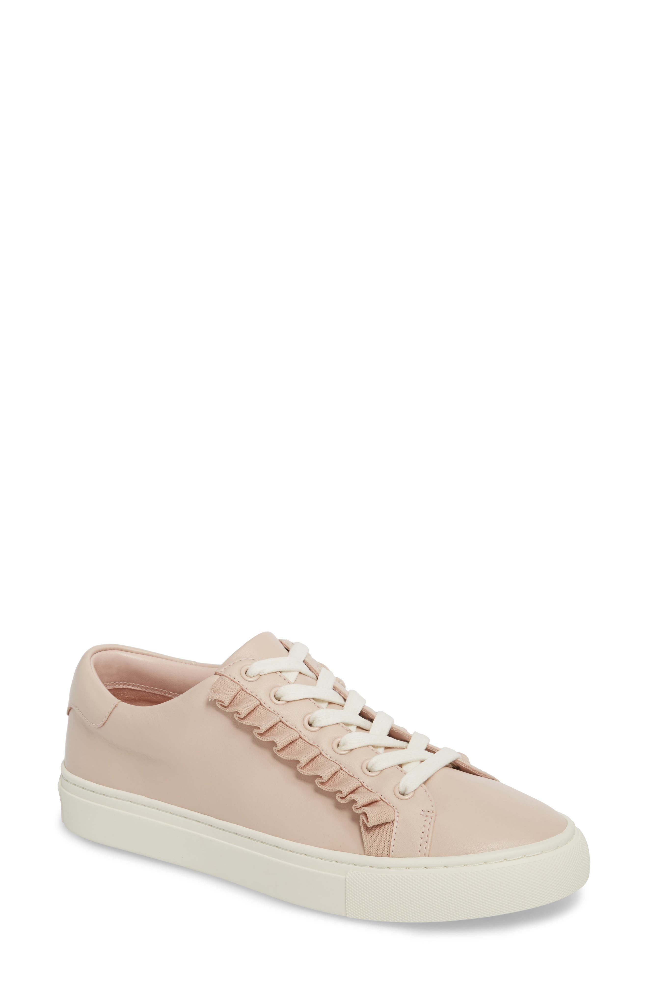 Ruffle Sneaker,                         Main,                         color, SHELL PINK