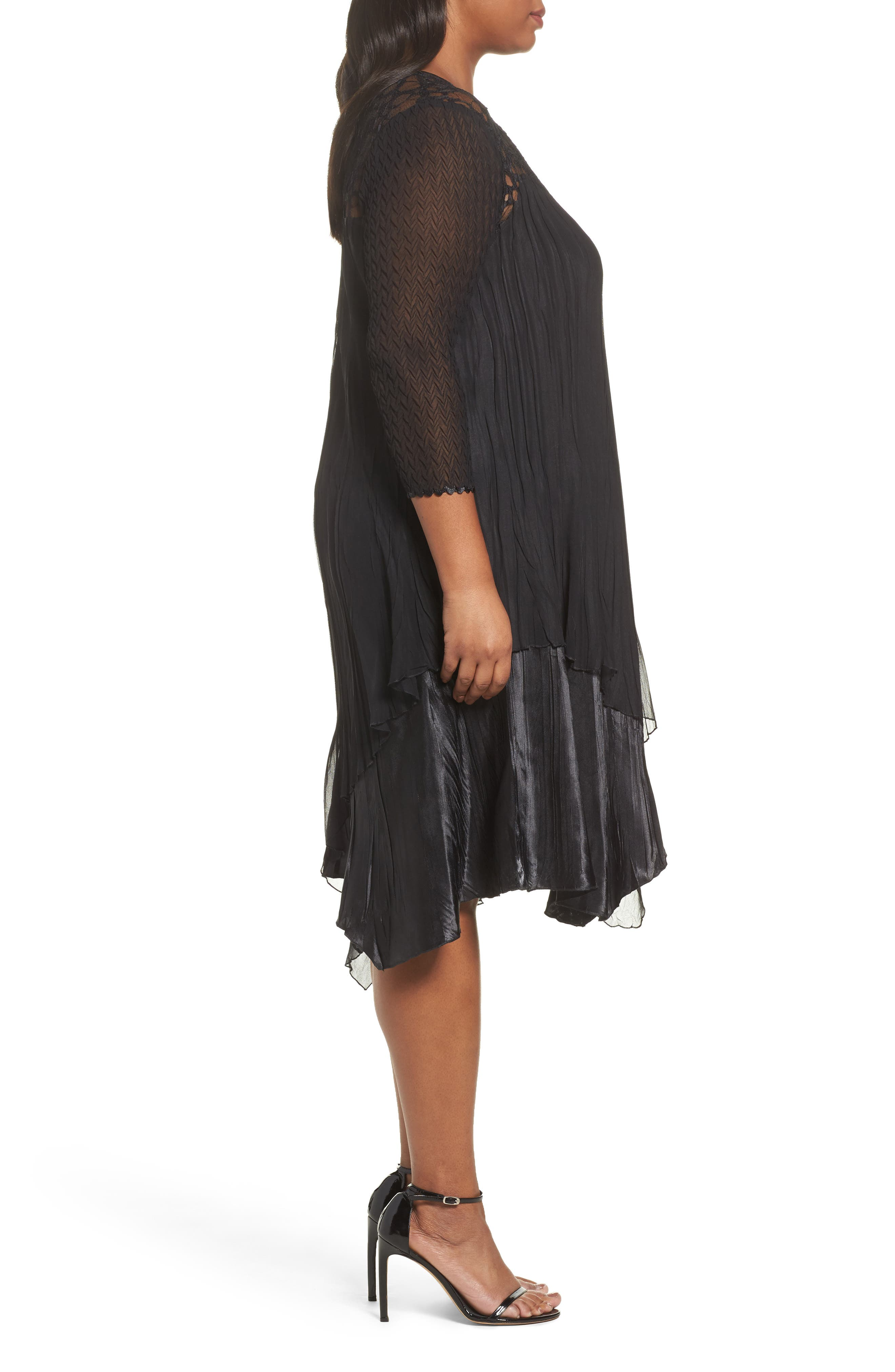 Circle Lace Dress,                             Alternate thumbnail 3, color,