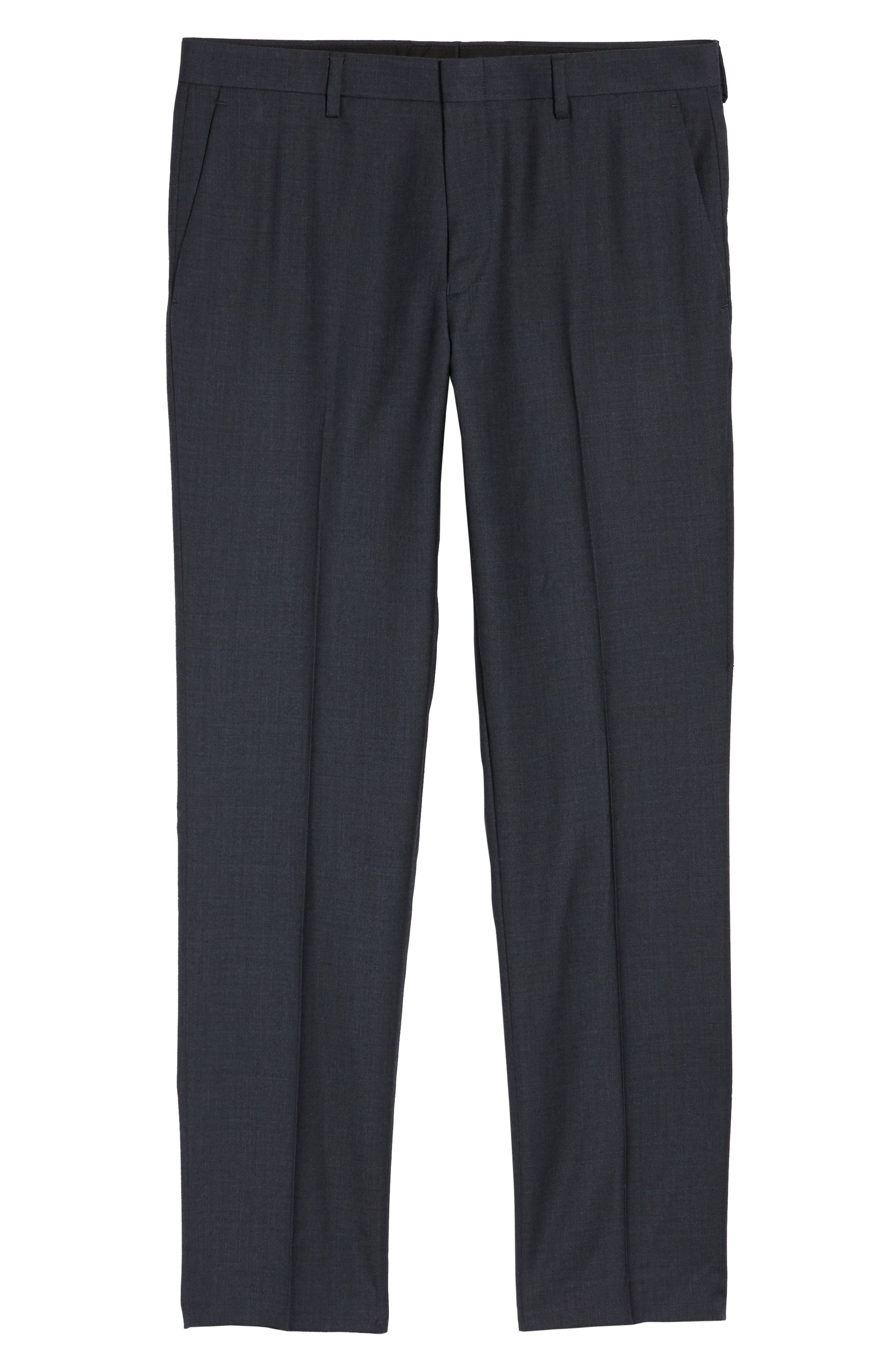 Ludlow Flat Front Solid Wool Trousers,                             Alternate thumbnail 12, color,