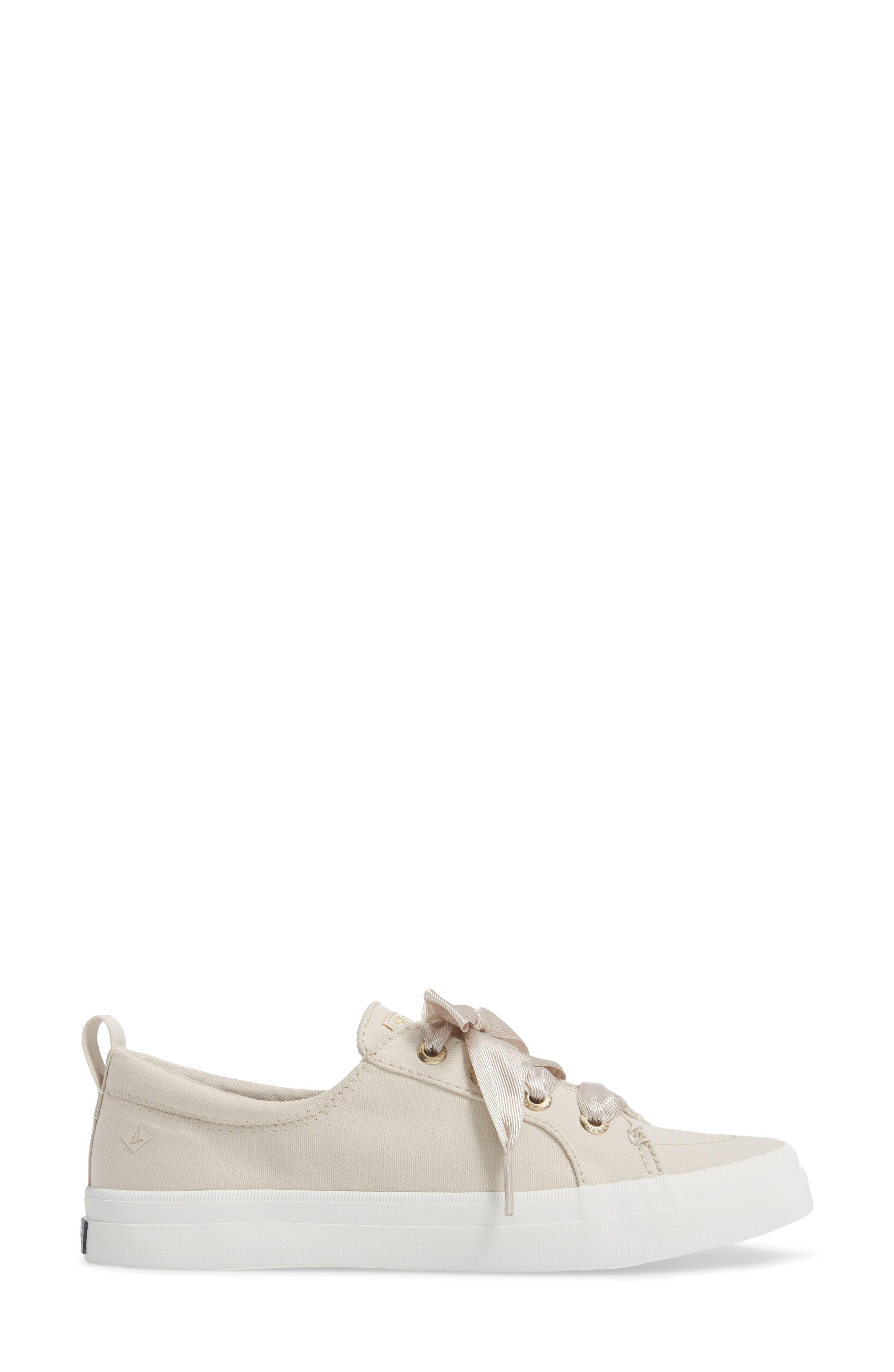 Crest Vibe Satin Lace Sneaker,                             Alternate thumbnail 8, color,