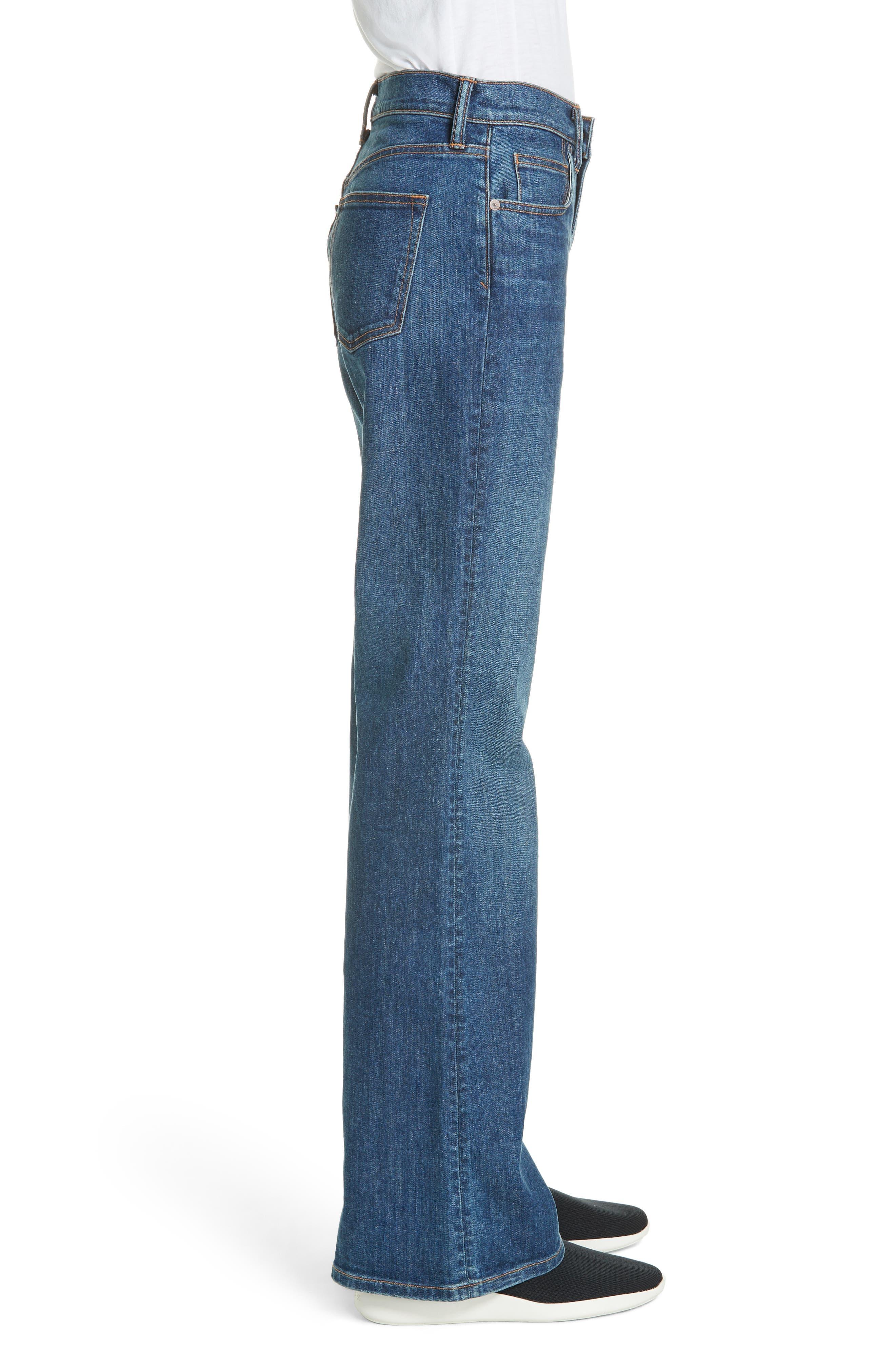 Wide Flare Leg Jeans,                             Alternate thumbnail 3, color,                             TRUE VINTAGE WASH
