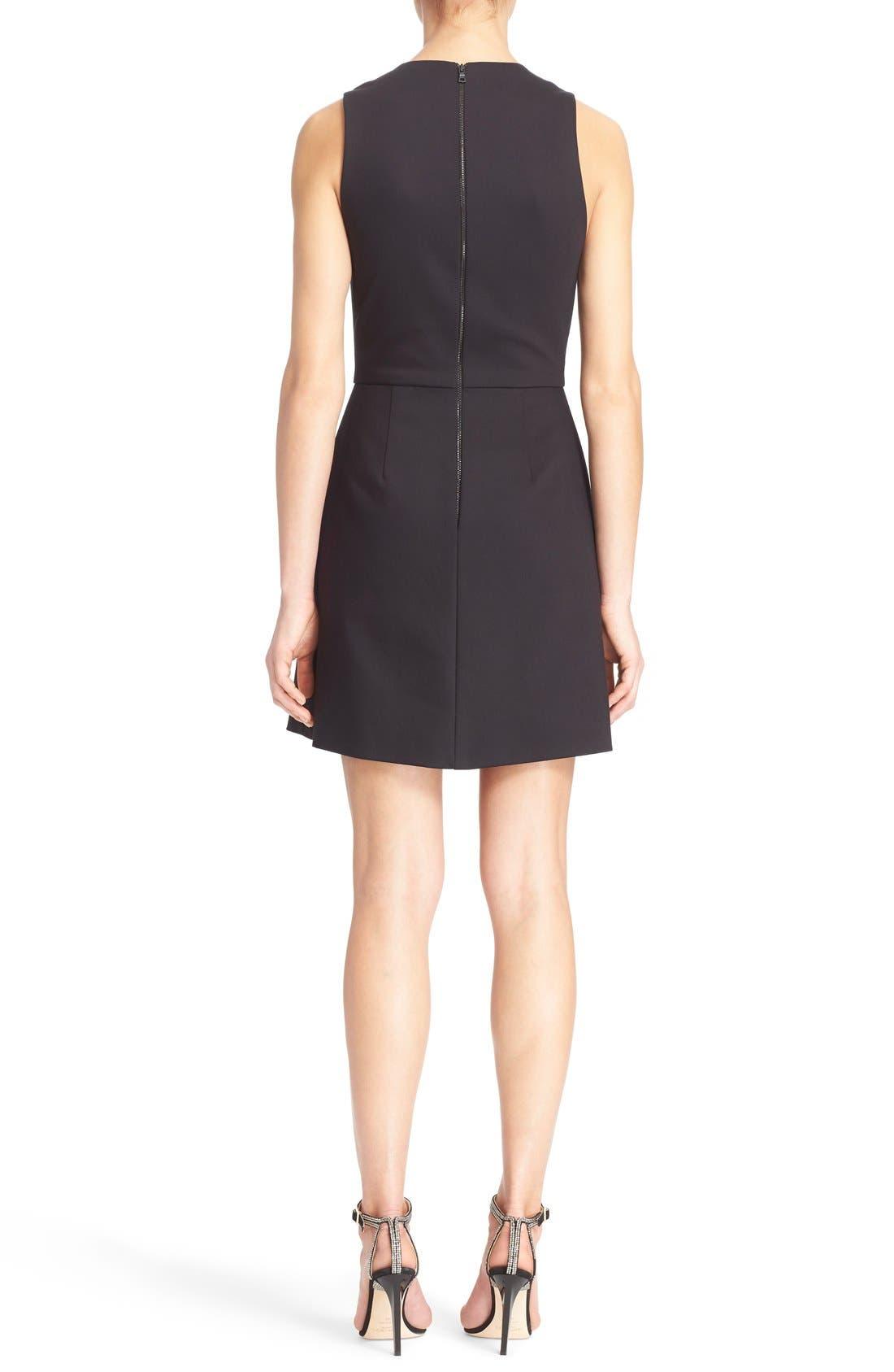 'Bria' Peplum Fit & Flare Dress,                             Alternate thumbnail 3, color,                             009