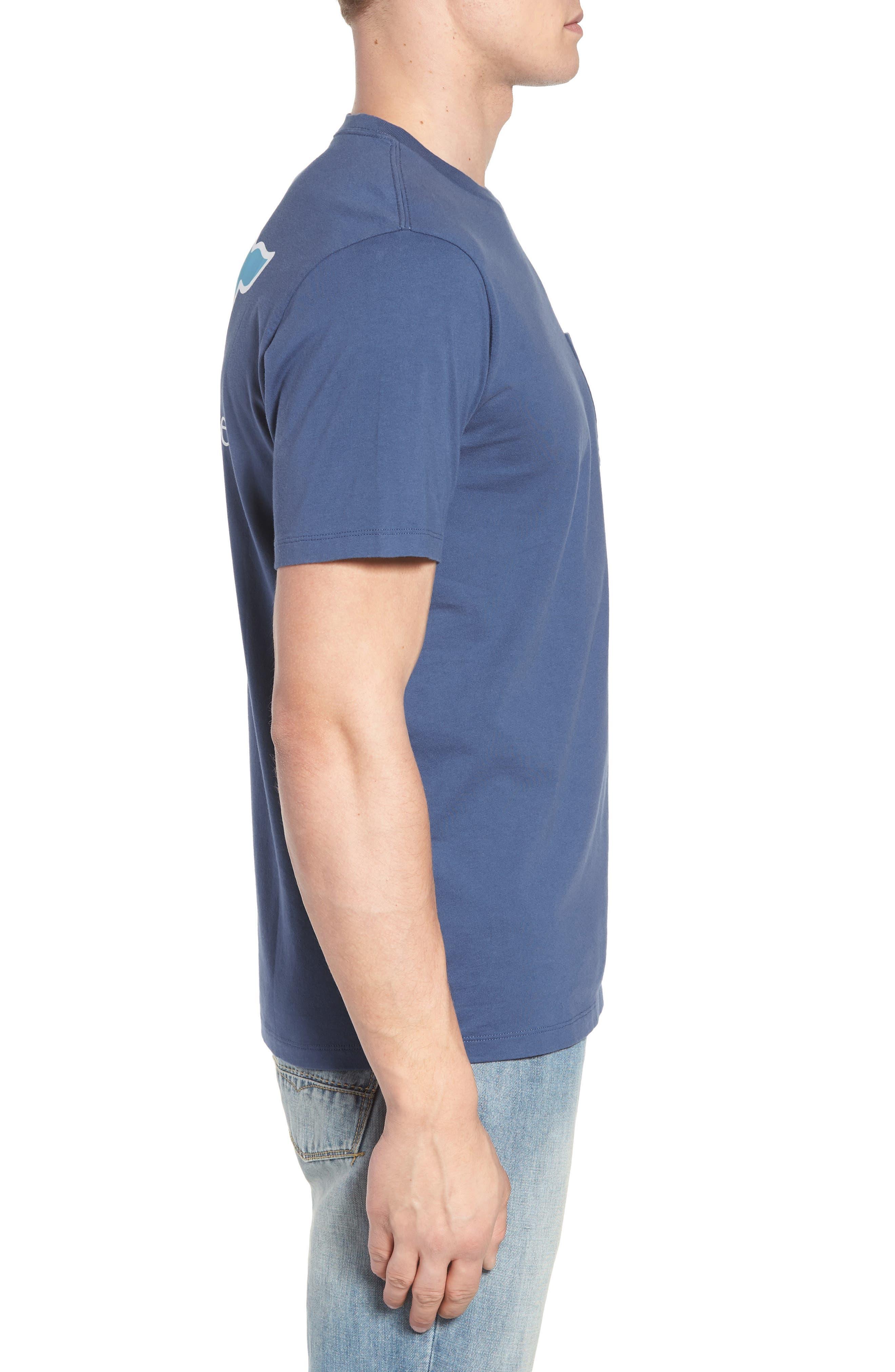 Bahamas Whale Crewneck Cotton T-Shirt,                             Alternate thumbnail 3, color,                             461