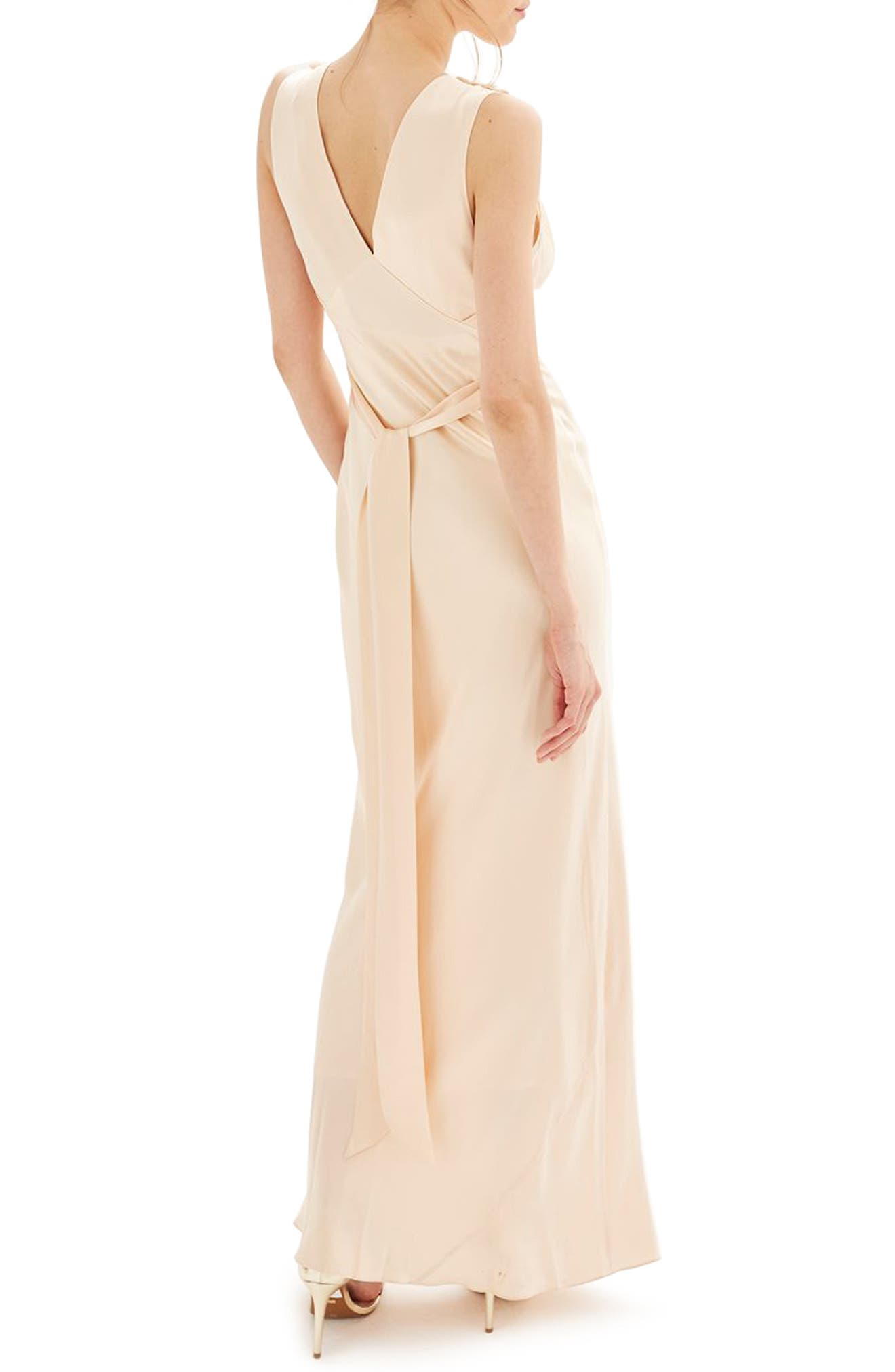 Bride Embroidered Silk Gown,                             Alternate thumbnail 2, color,                             250