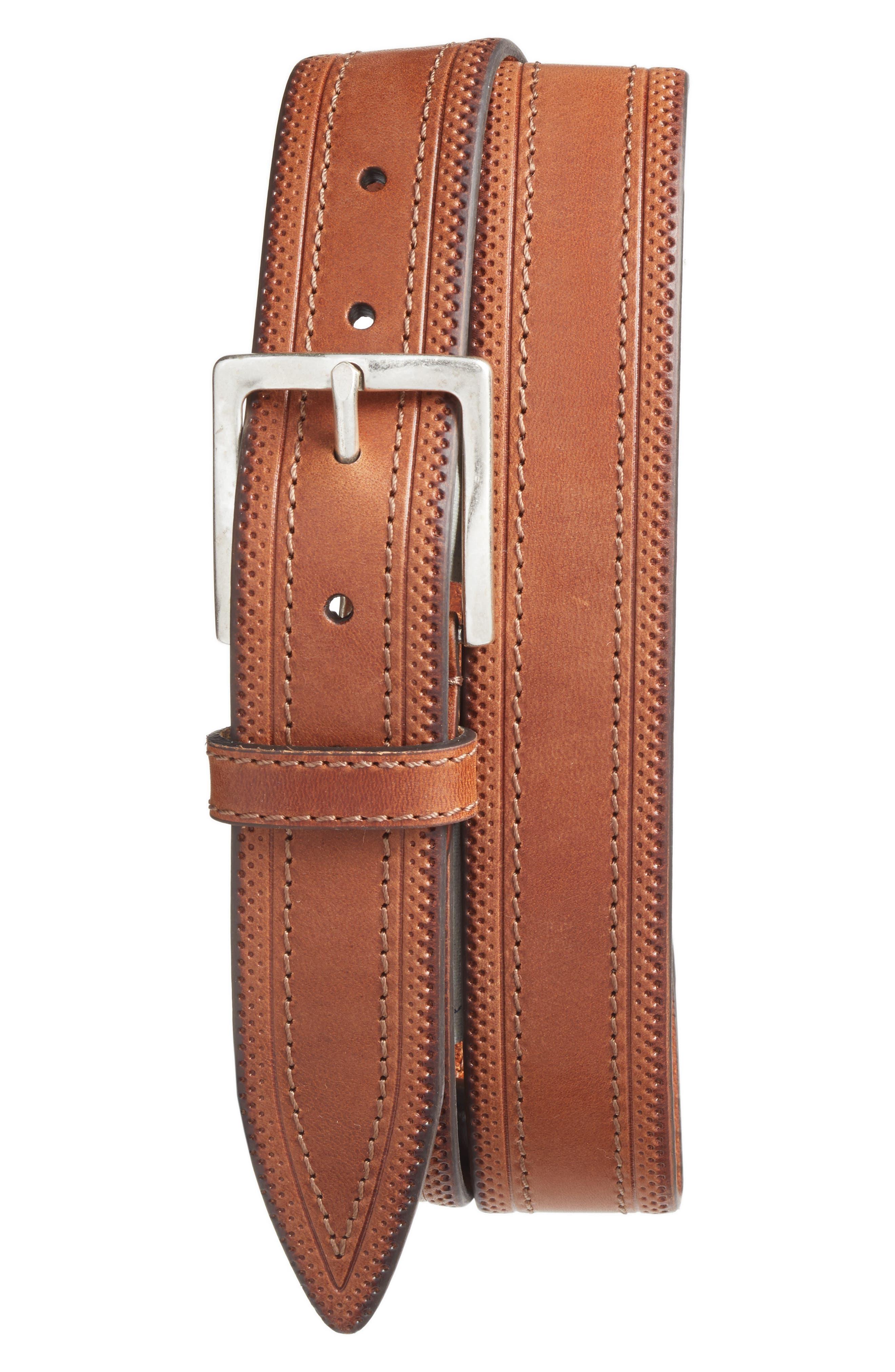 Walton Leather Belt,                         Main,                         color, 216