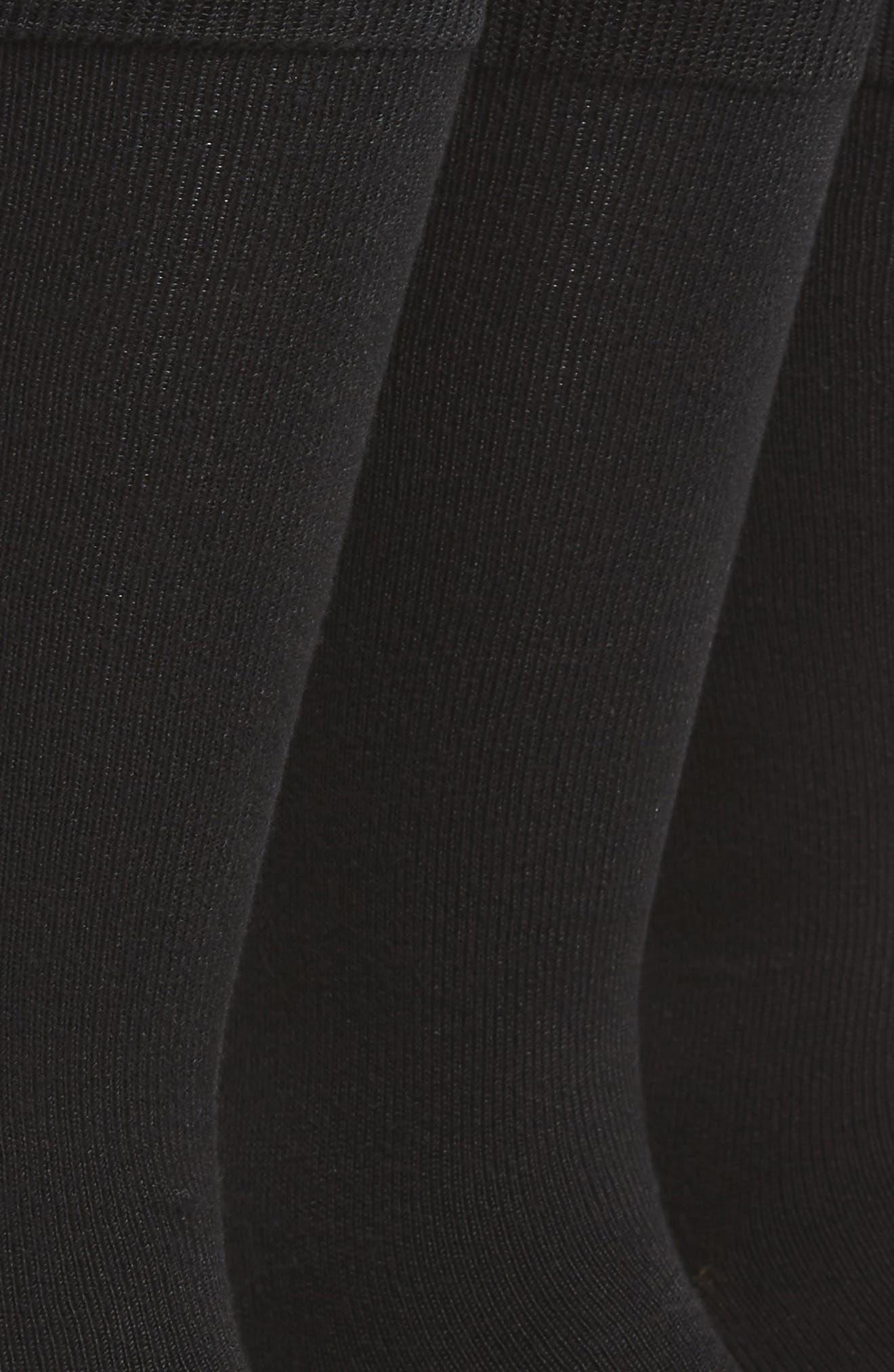 Assorted 3-Pack Supersoft Socks,                             Alternate thumbnail 3, color,                             BLACK