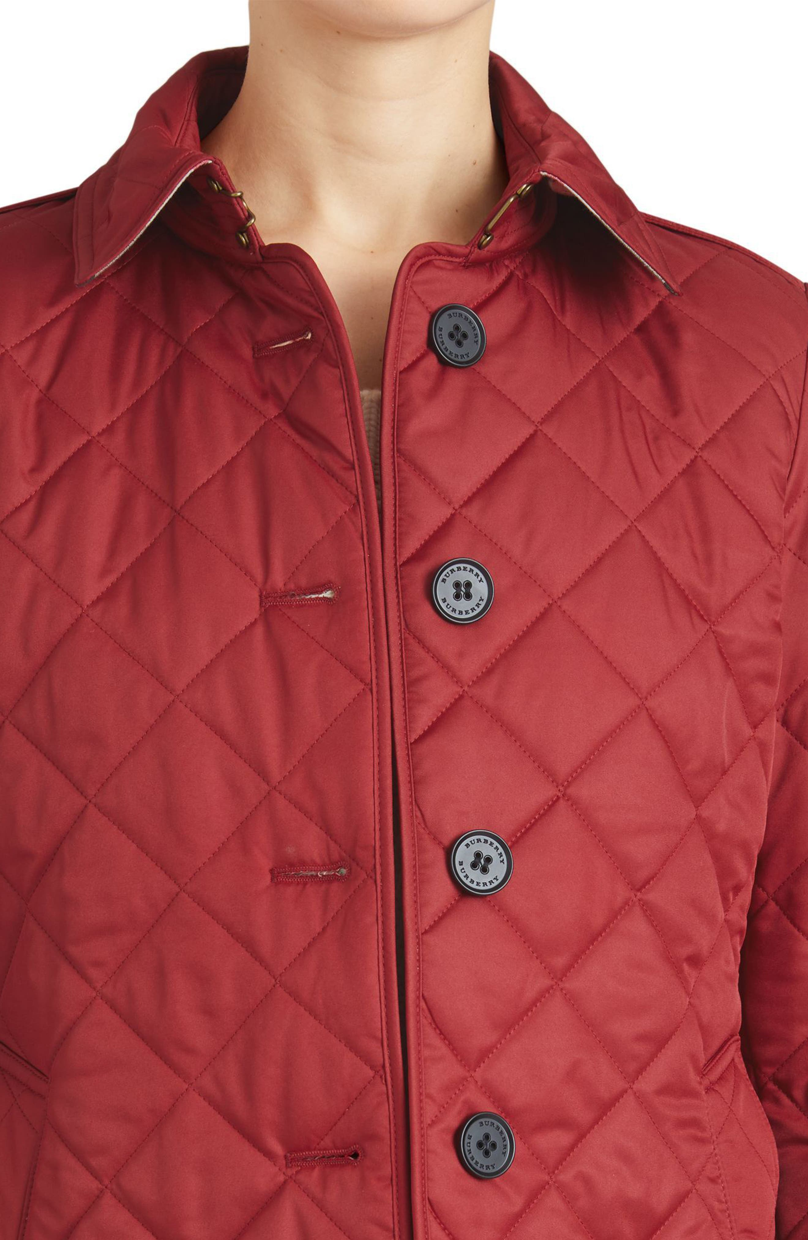 Frankby Quilted Jacket,                             Alternate thumbnail 4, color,                             PARADE RED