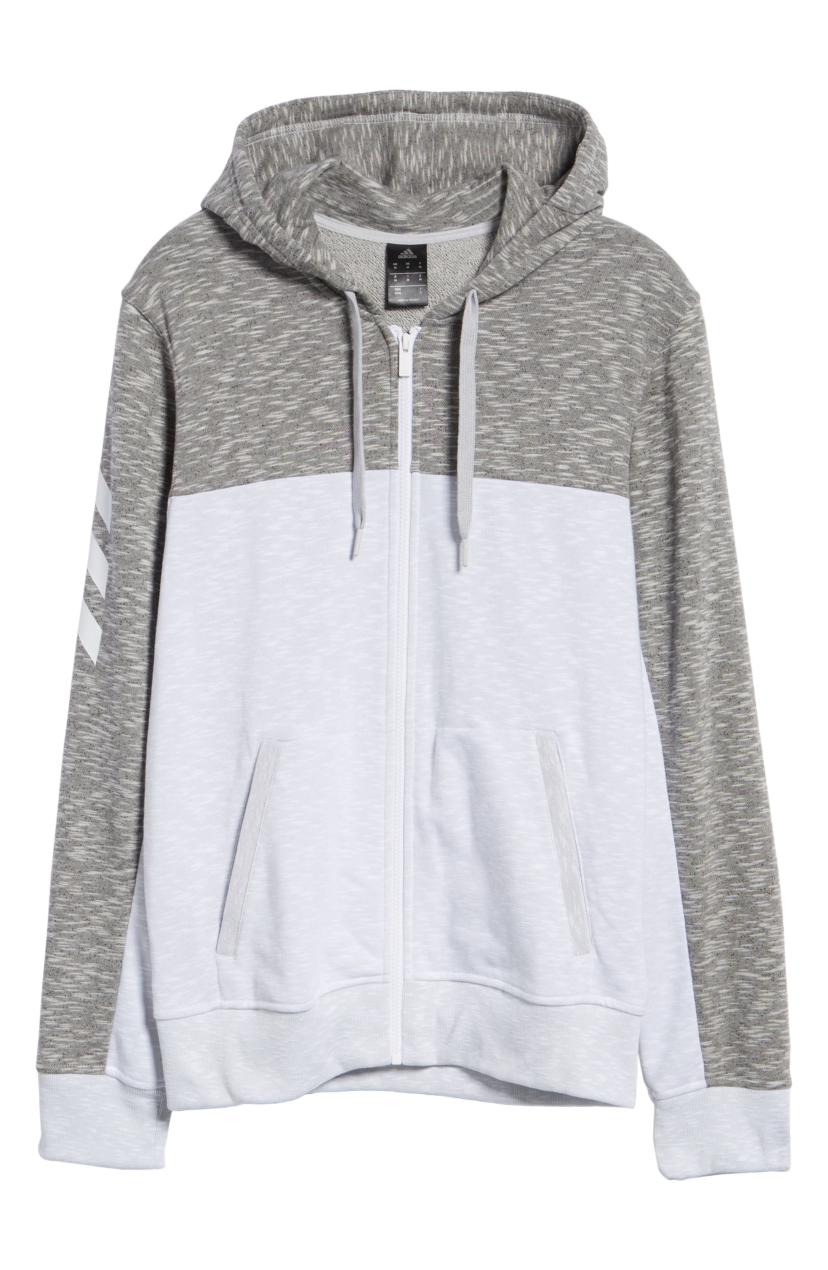 Pick Up Colorblock Zip Hoodie,                             Alternate thumbnail 6, color,                             LGH SOLID GREY/ WHITE