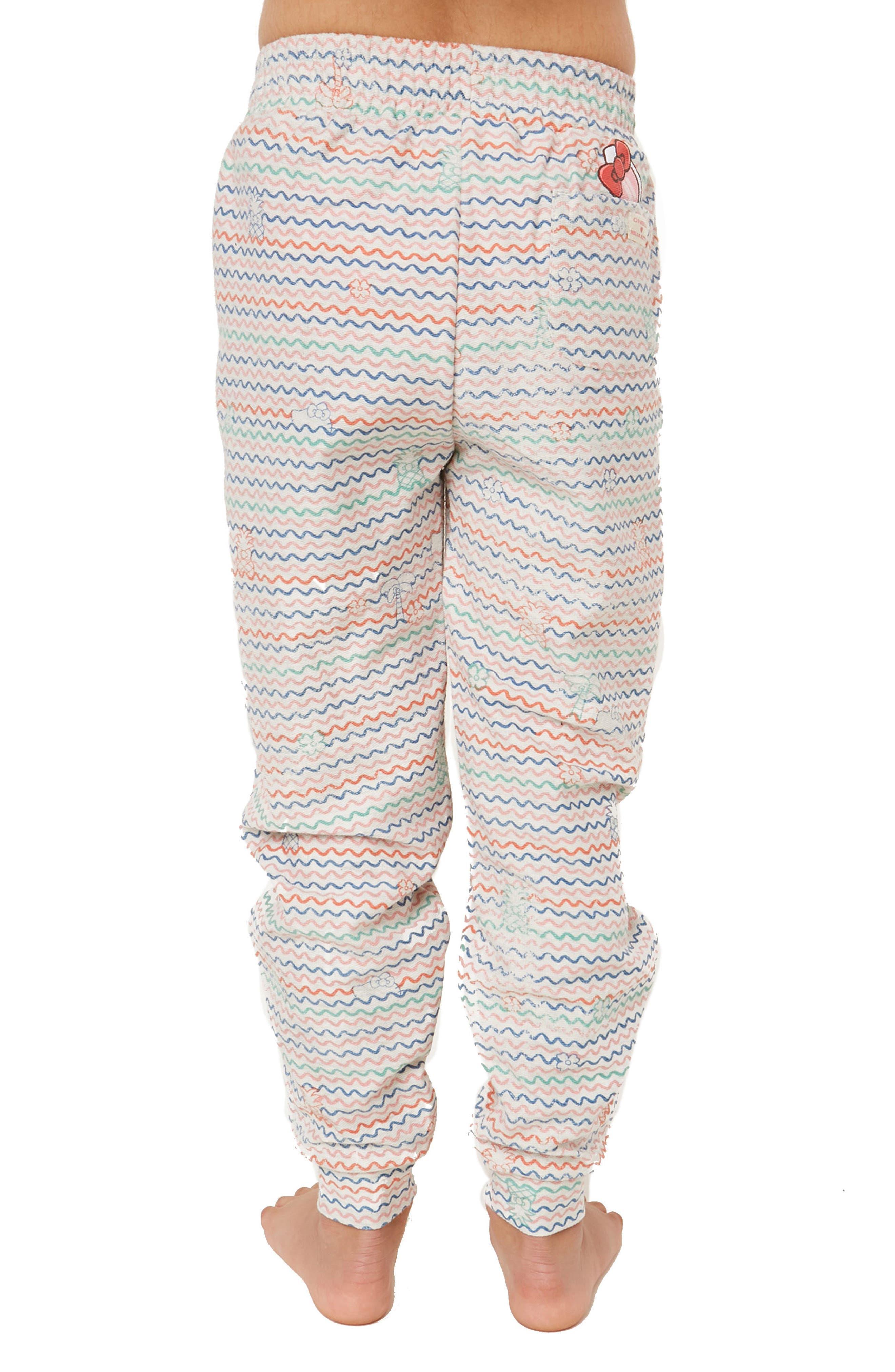 x Hello Kitty<sup>®</sup> Tropical Treasures Fleece Pants,                             Alternate thumbnail 3, color,                             250