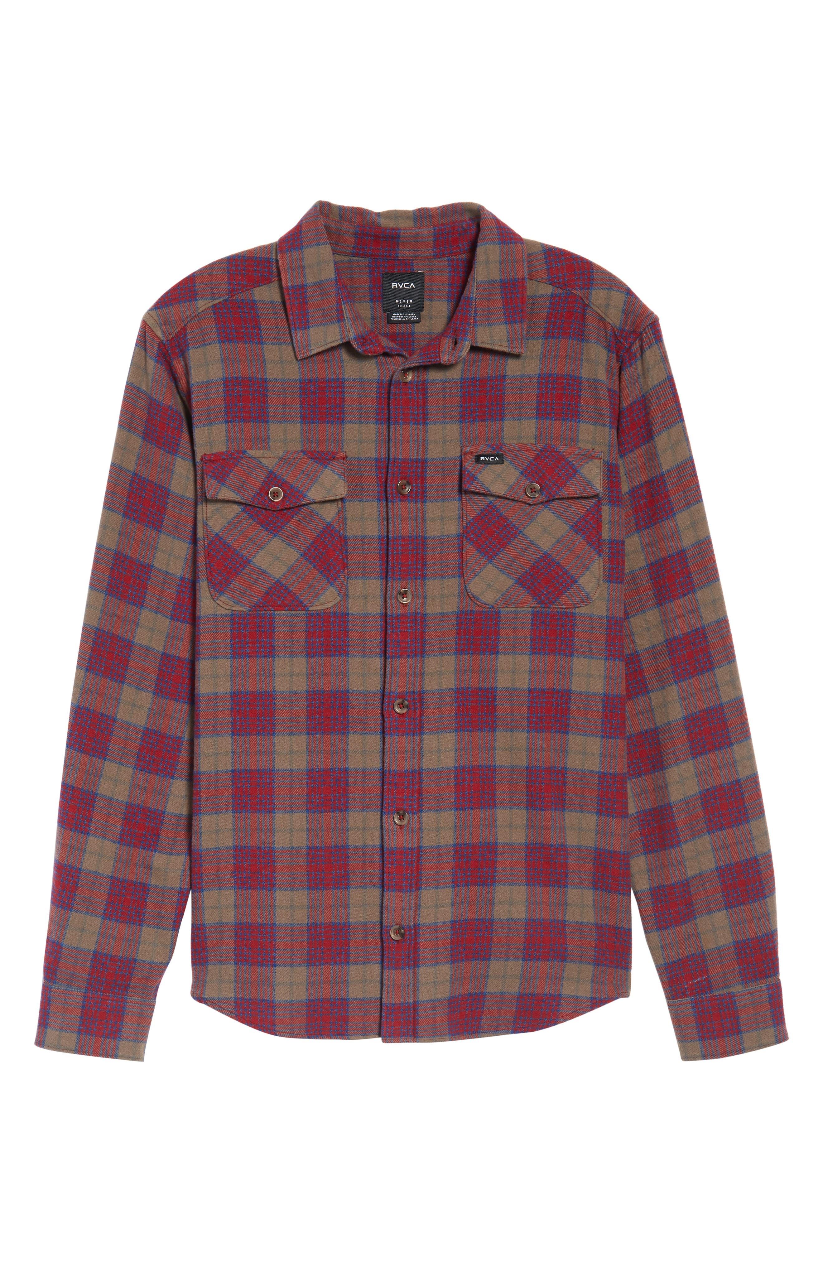 'That'll Work' Trim Fit Plaid Flannel Shirt,                             Alternate thumbnail 29, color,