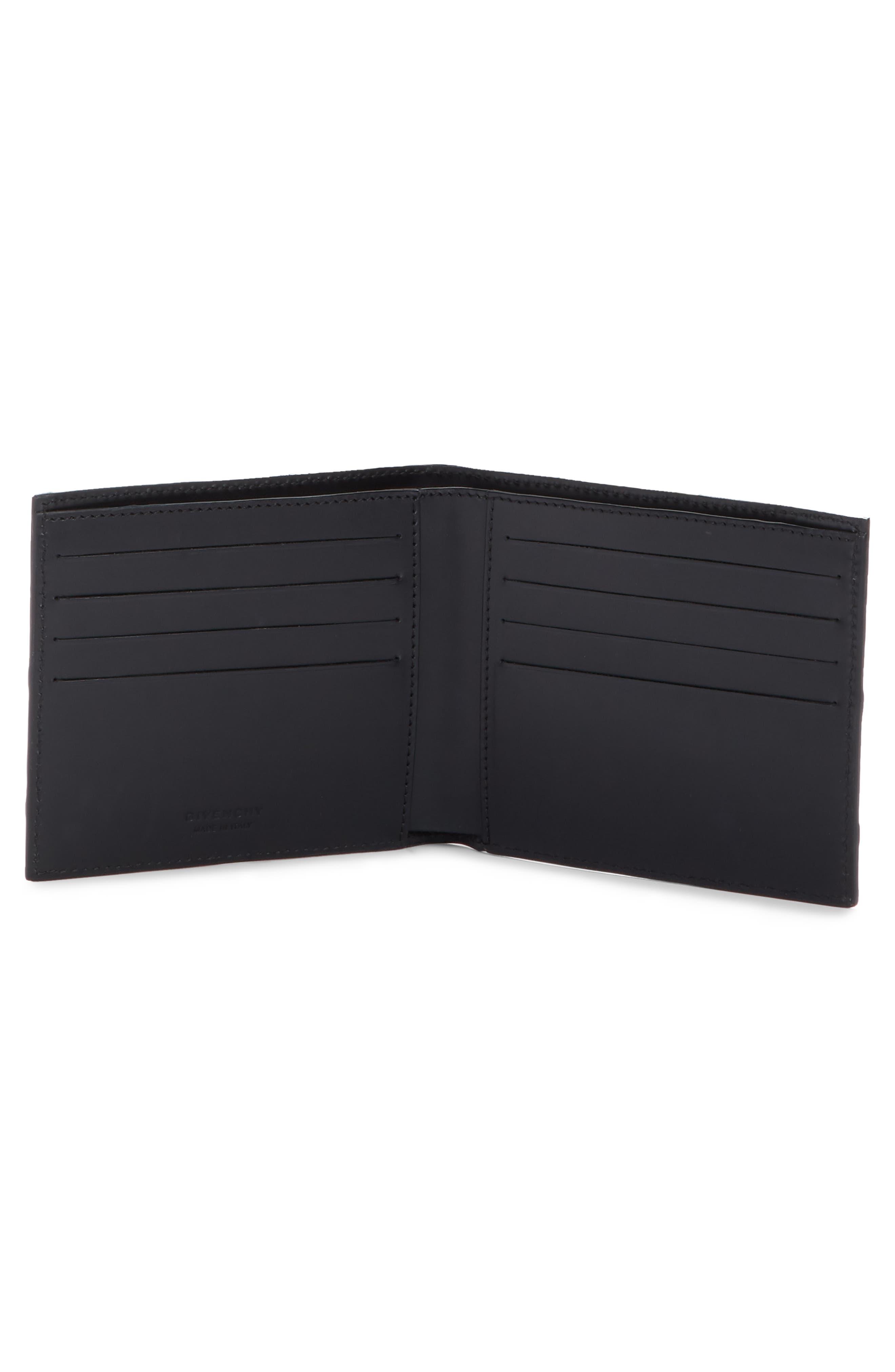 GIVENCHY,                             Logo Calfskin Leather Wallet,                             Alternate thumbnail 2, color,                             BLACK