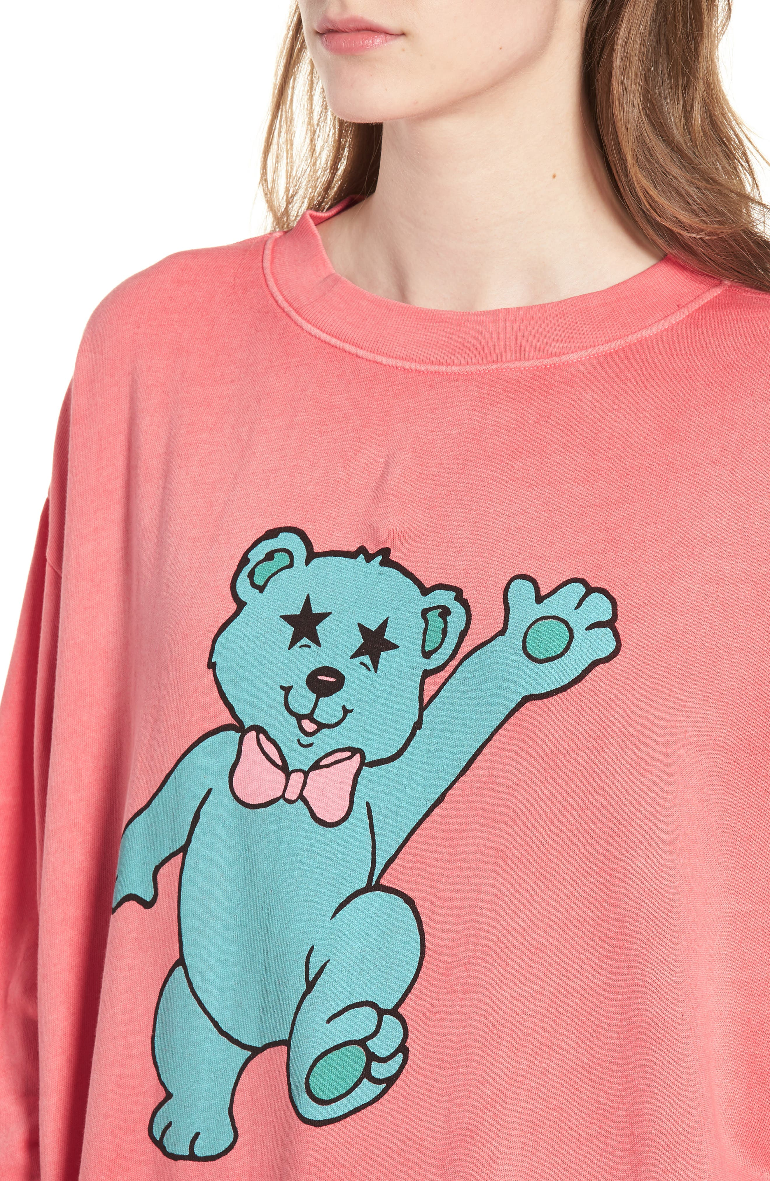 Groovy Teddy Road Trip Pullover Sweatshirt,                             Alternate thumbnail 4, color,                             640