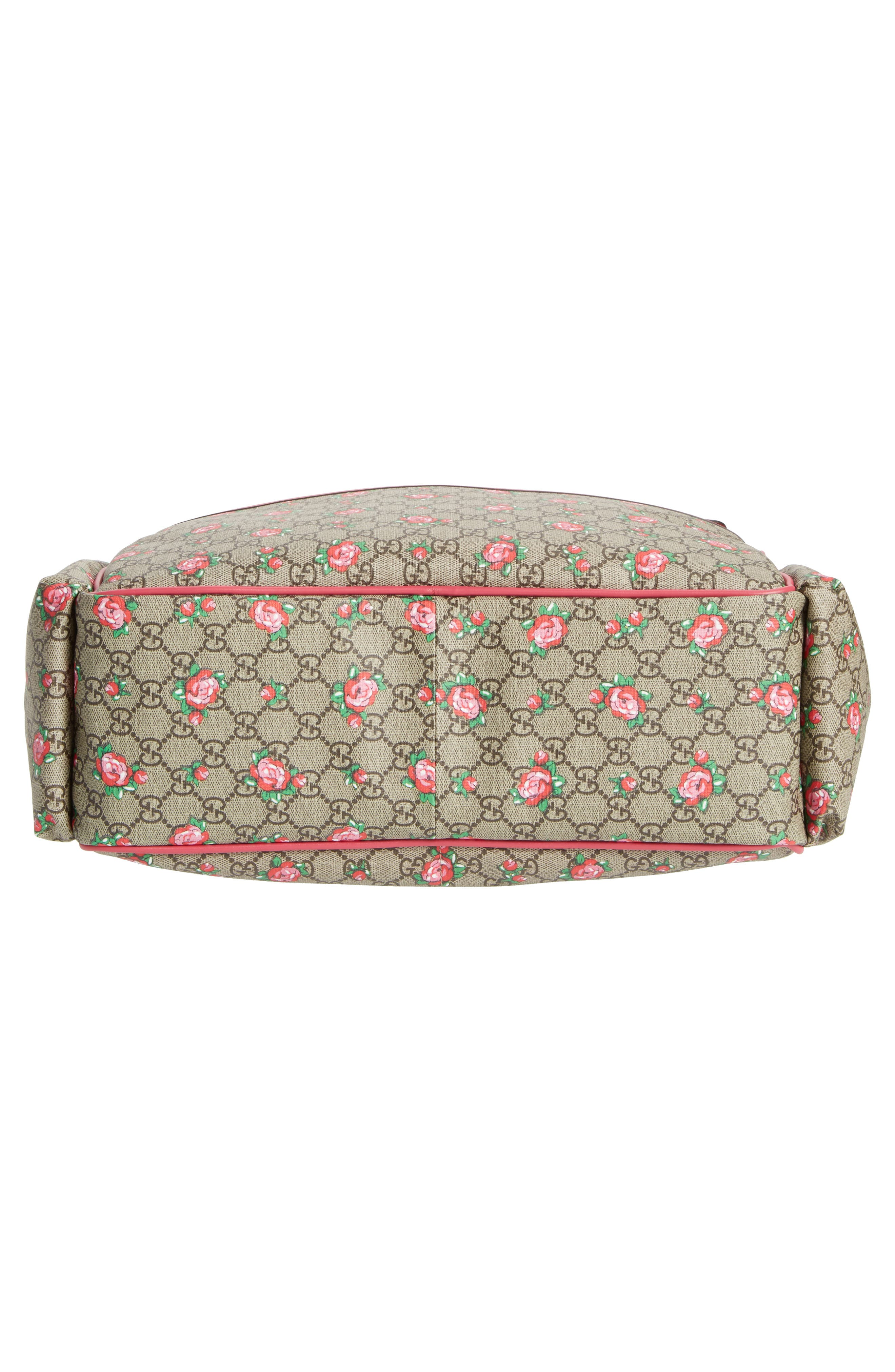 Rose Bud GG Supreme Diaper Bag,                             Alternate thumbnail 6, color,