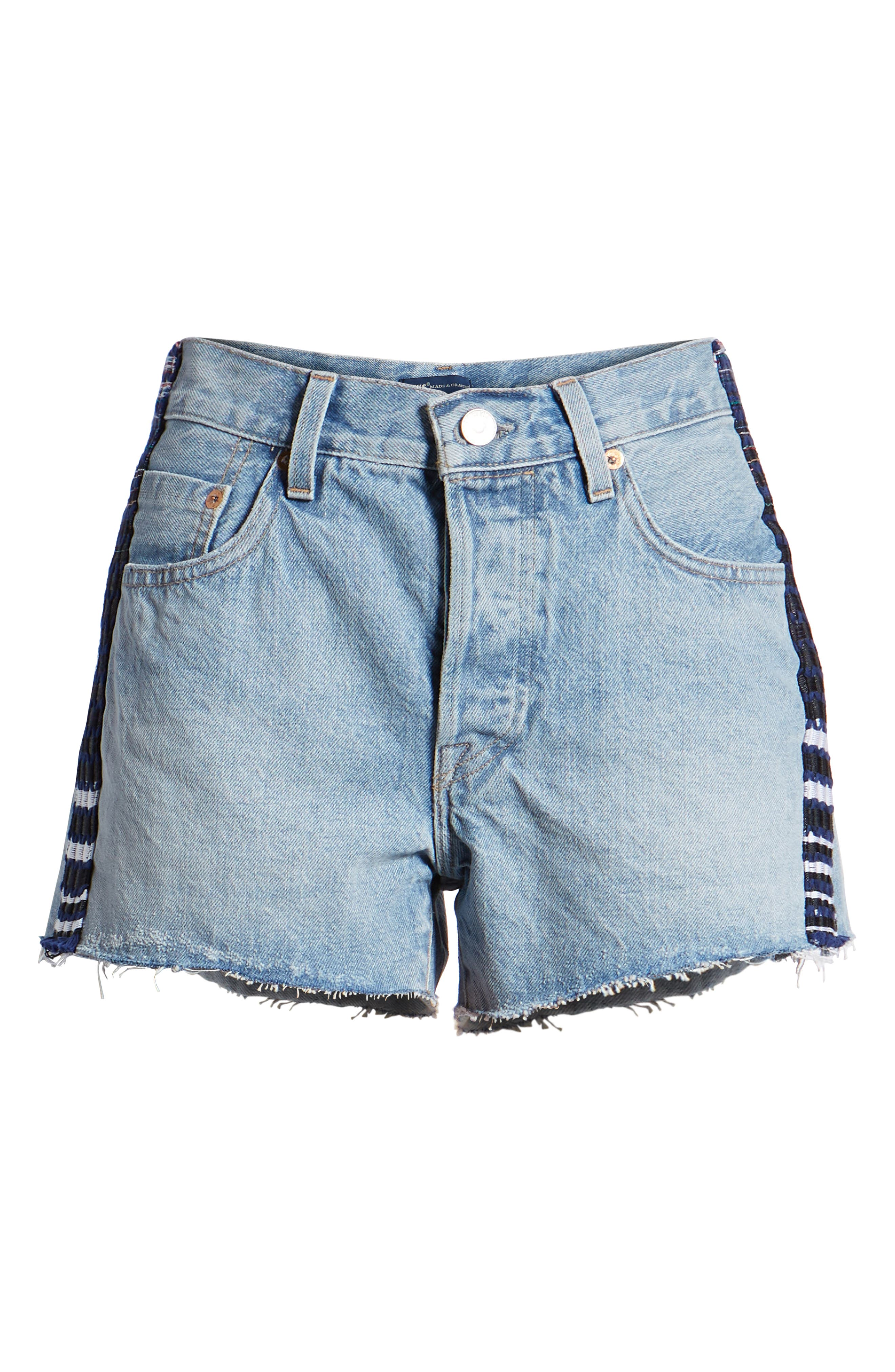Made & Crafted<sup>™</sup> 501<sup>®</sup> Embroidered Cutoff Denim Shorts,                             Alternate thumbnail 7, color,                             LMC SKIPPER