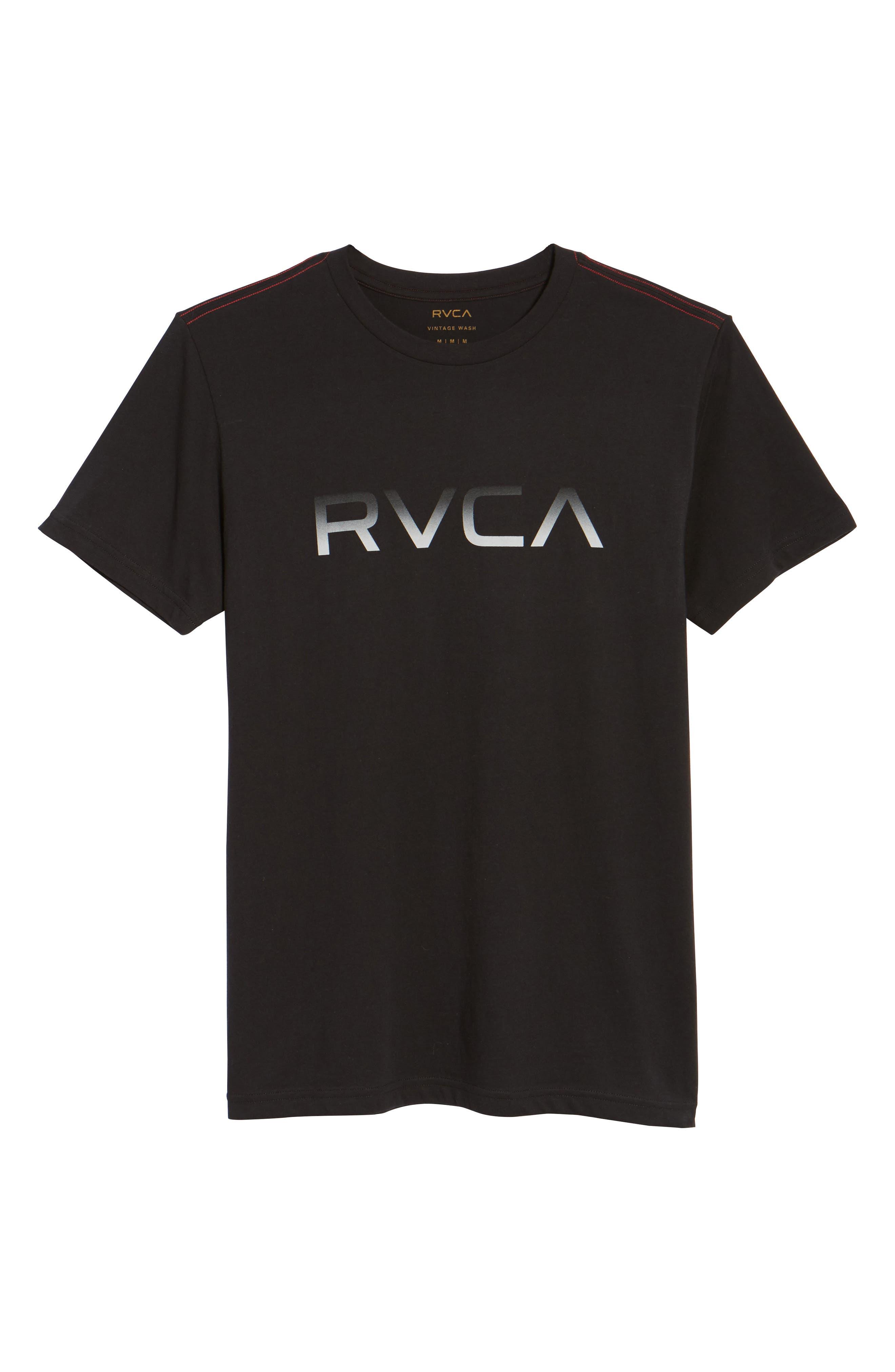 Big RVCA Gradient Logo T-Shirt,                             Alternate thumbnail 11, color,