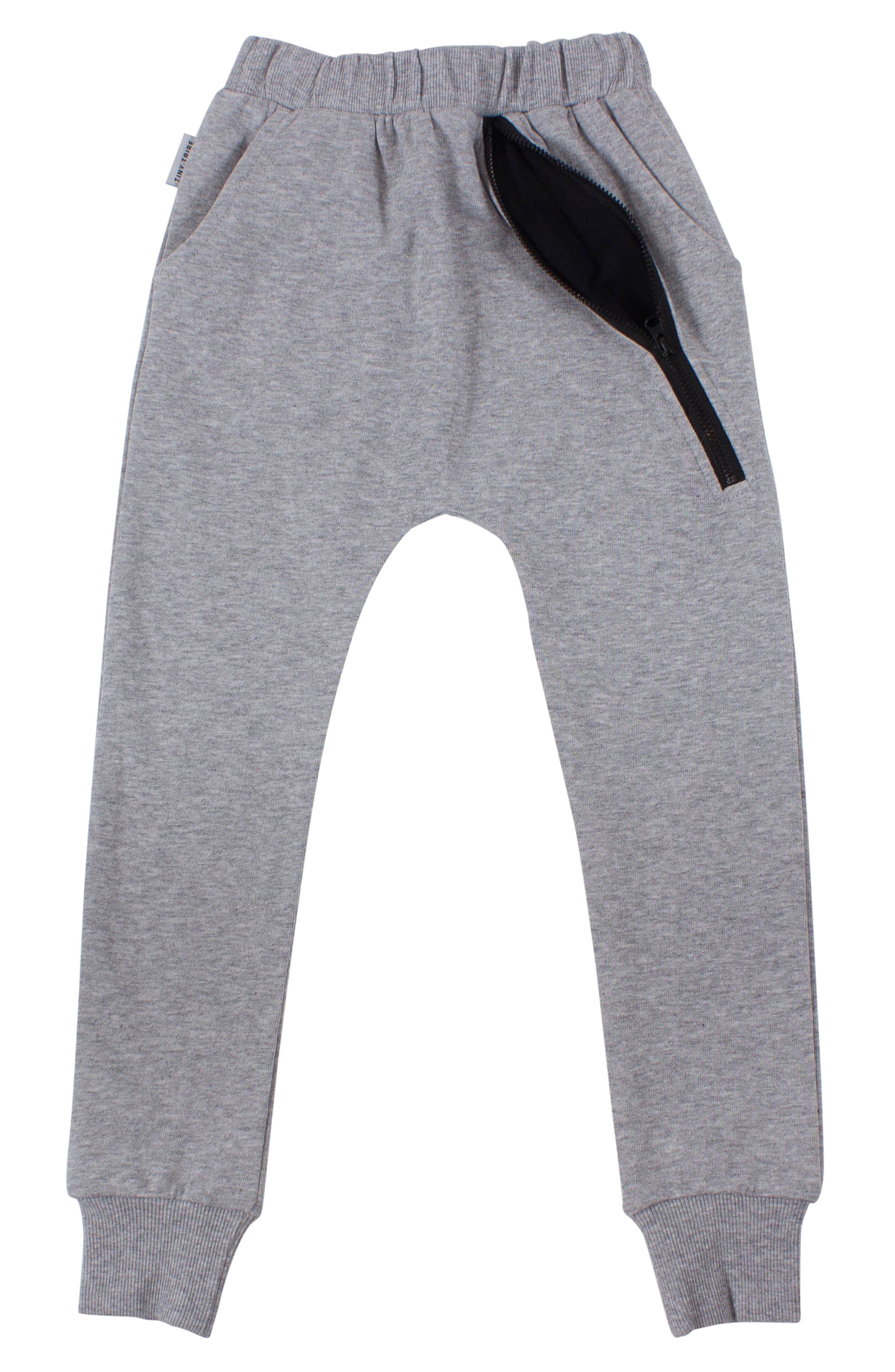 Zip Sweatpants,                             Alternate thumbnail 2, color,                             GREY MARL