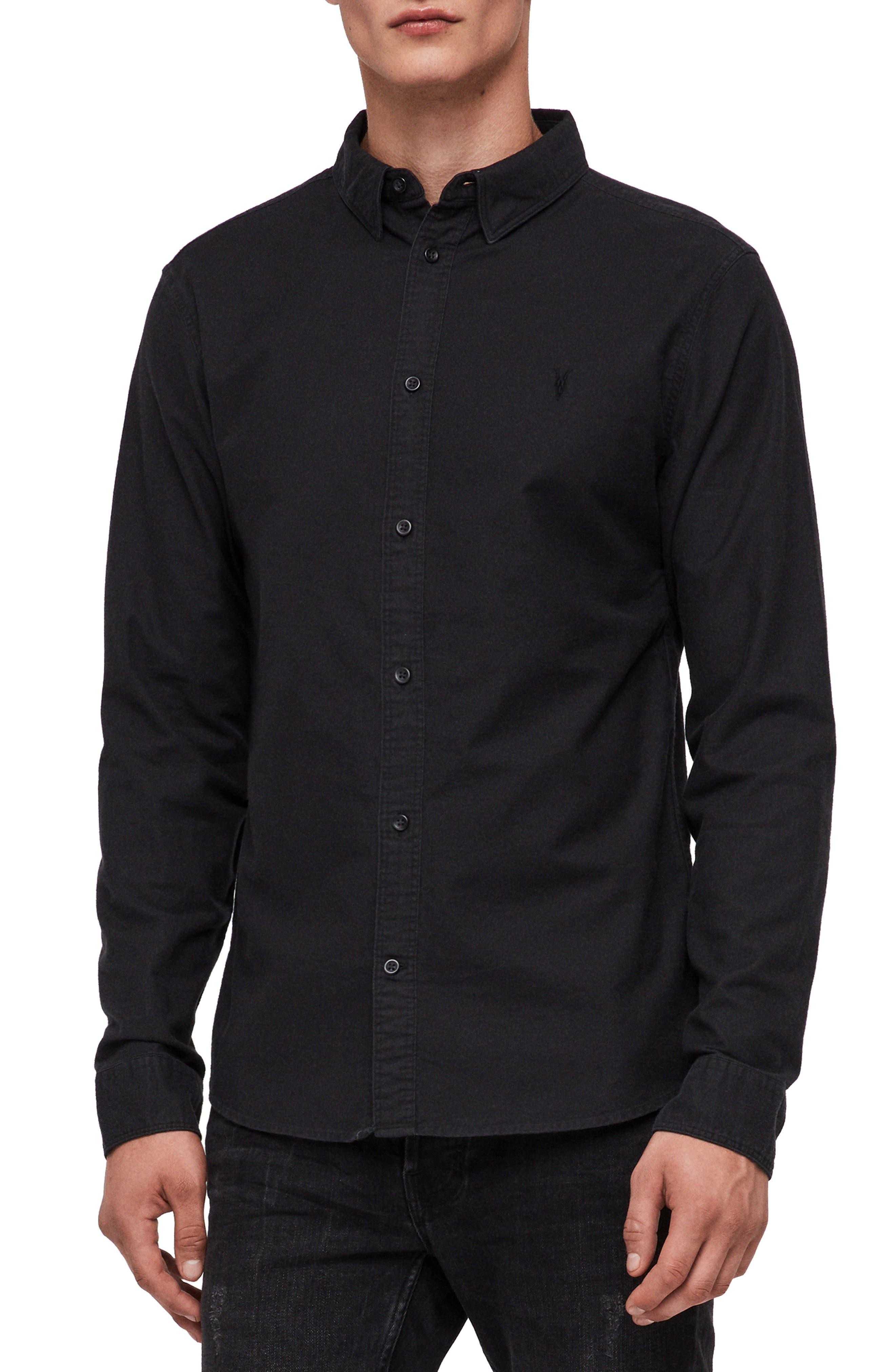 Huntington Regular Fit Sport Shirt,                             Main thumbnail 1, color,                             BLACK