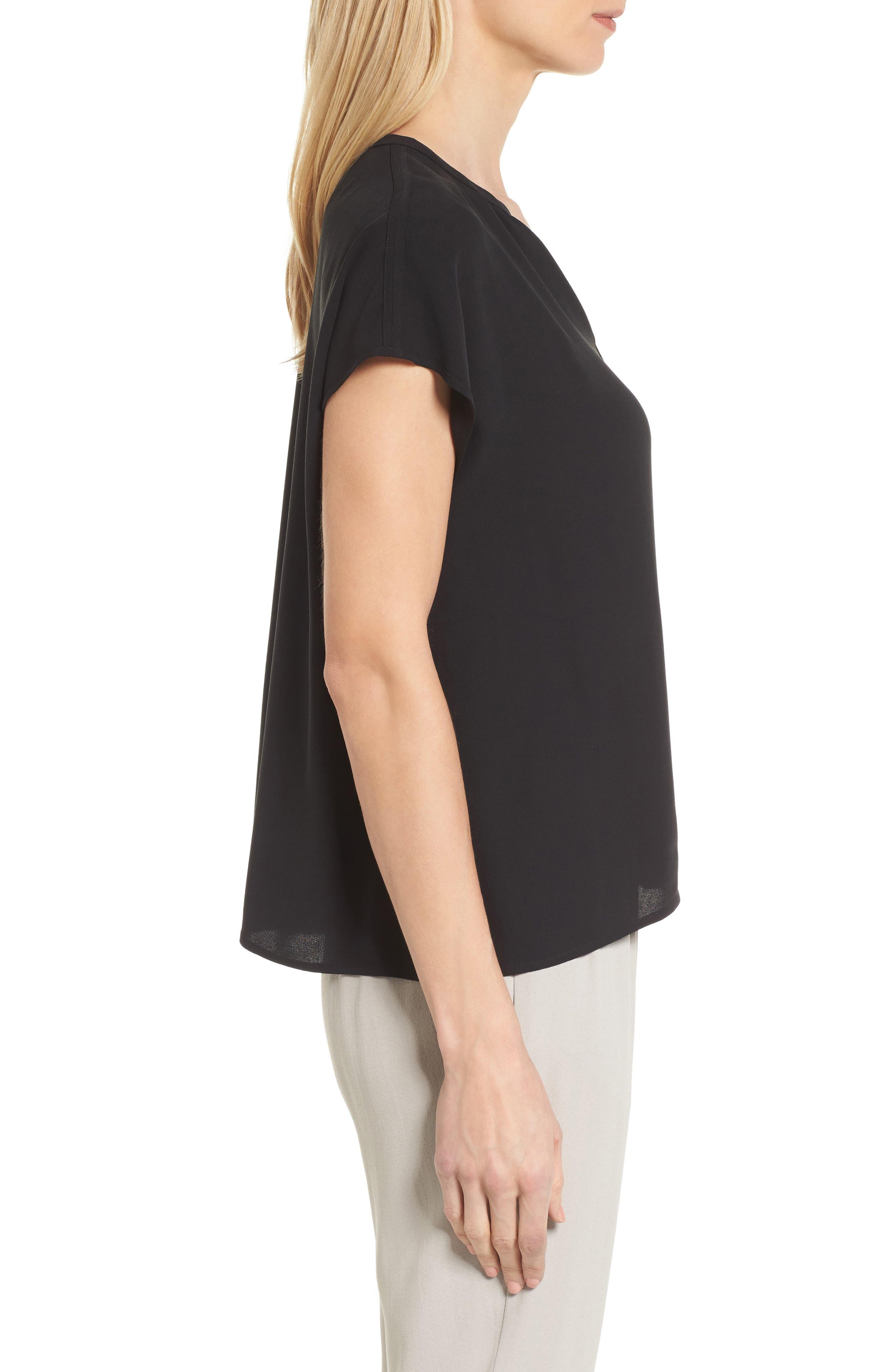 Split Neck Silk Shirt,                             Alternate thumbnail 8, color,