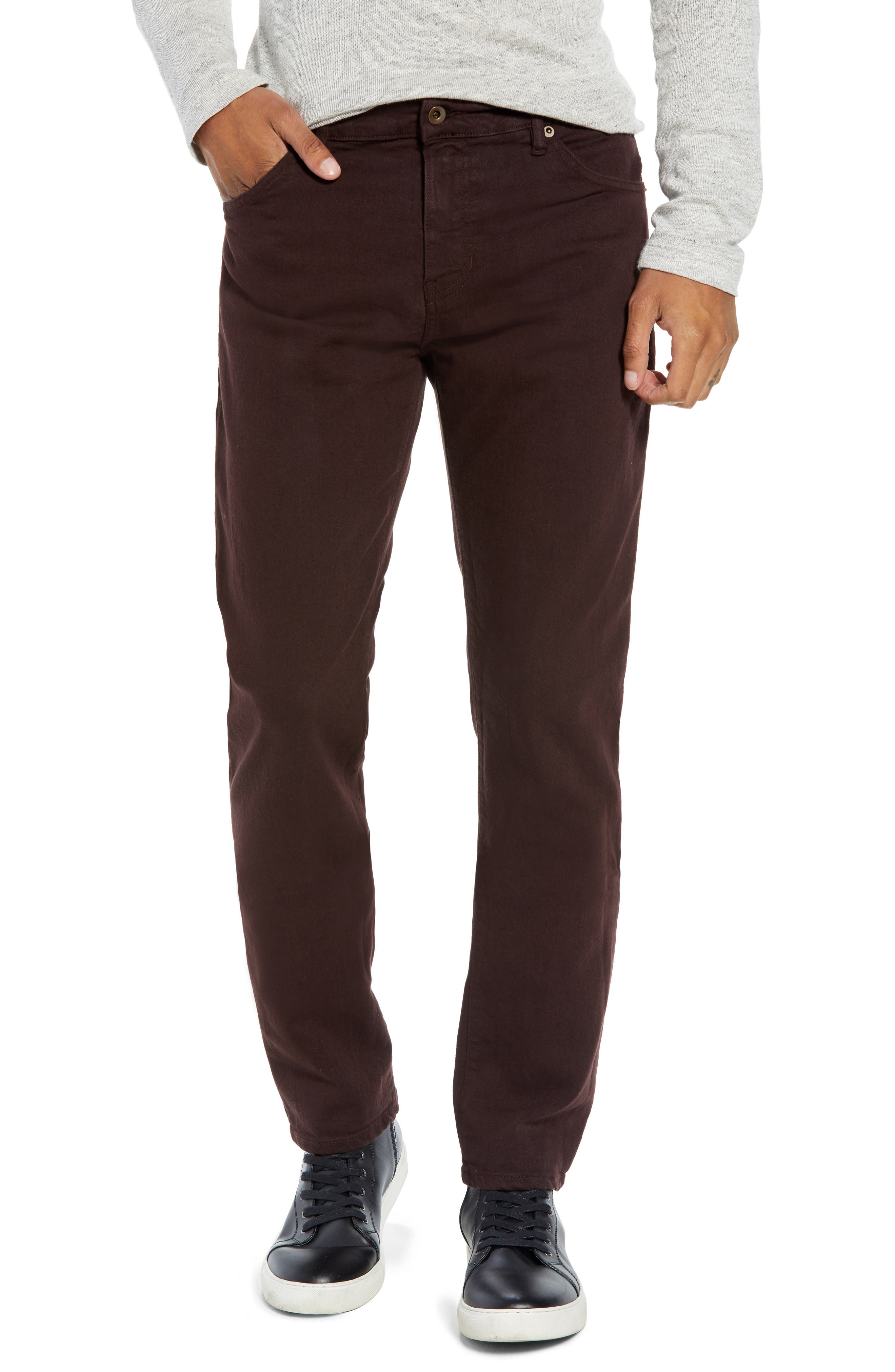 Raleight Denim Martin Skinny Fit Jeans,                             Main thumbnail 1, color,                             CURRANT