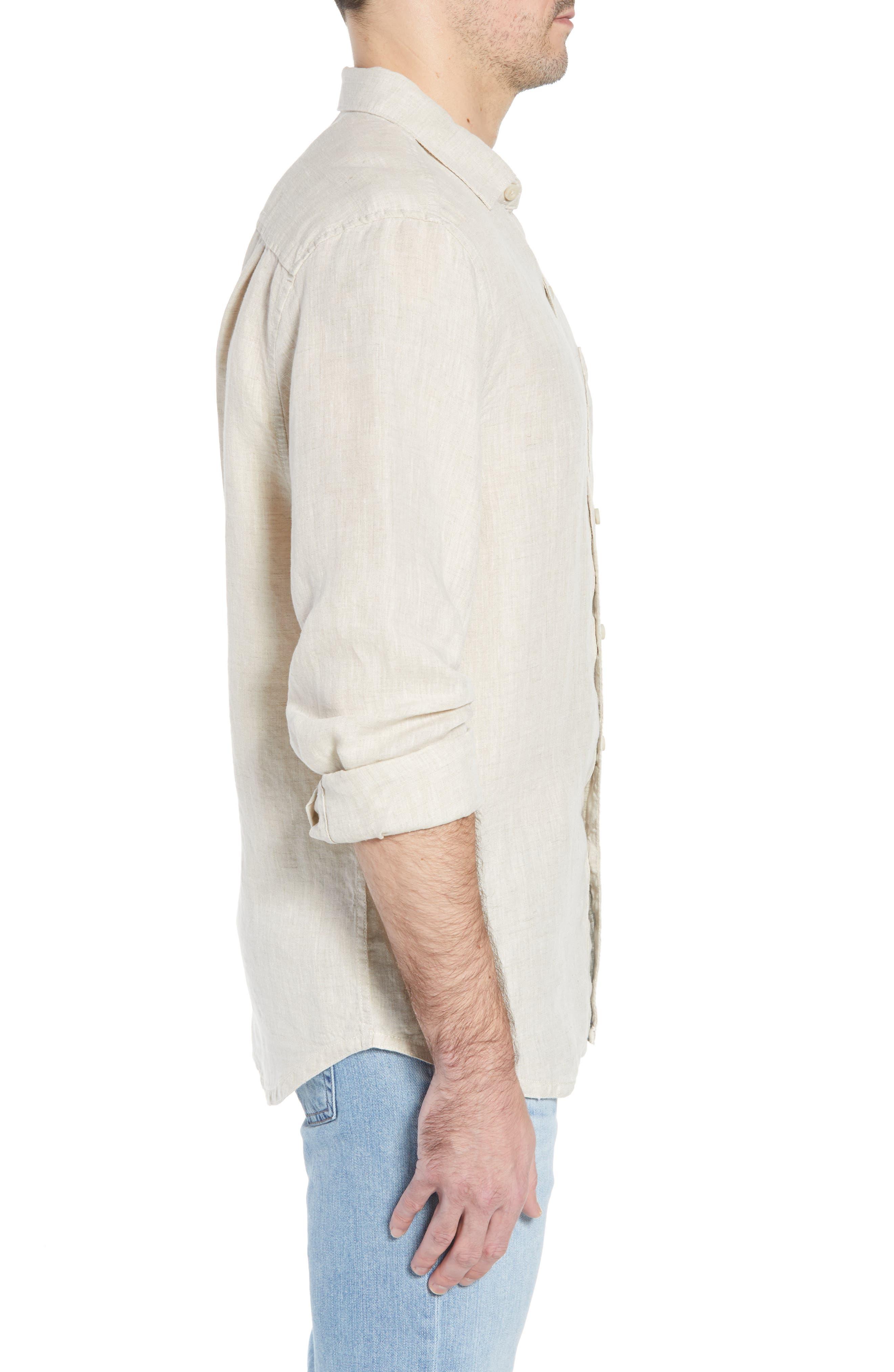 Seaspray Breezer Linen Shirt,                             Alternate thumbnail 10, color,