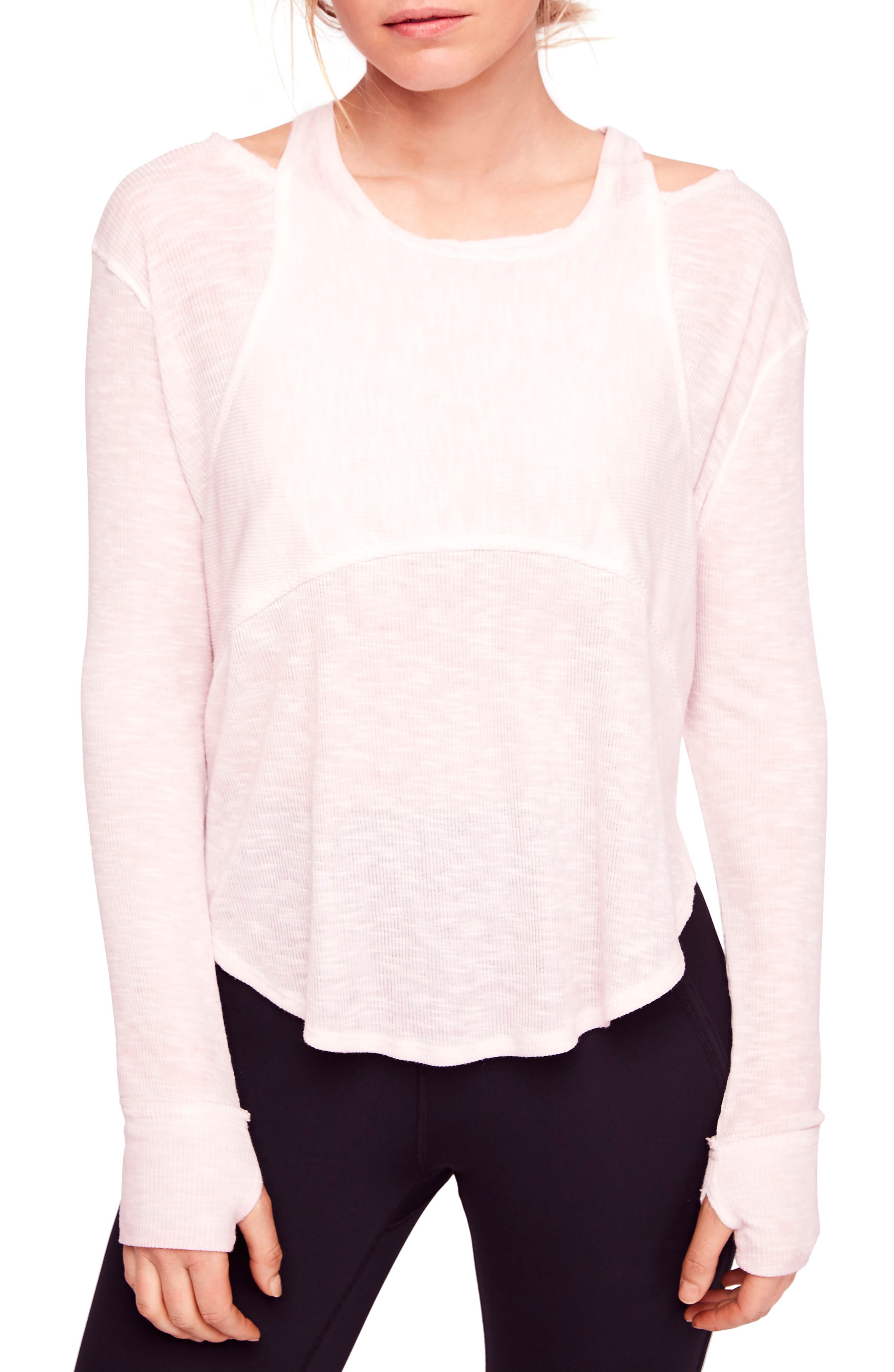 FREE PEOPLE MOVEMENT Zenith Tee in Dusty Mauve