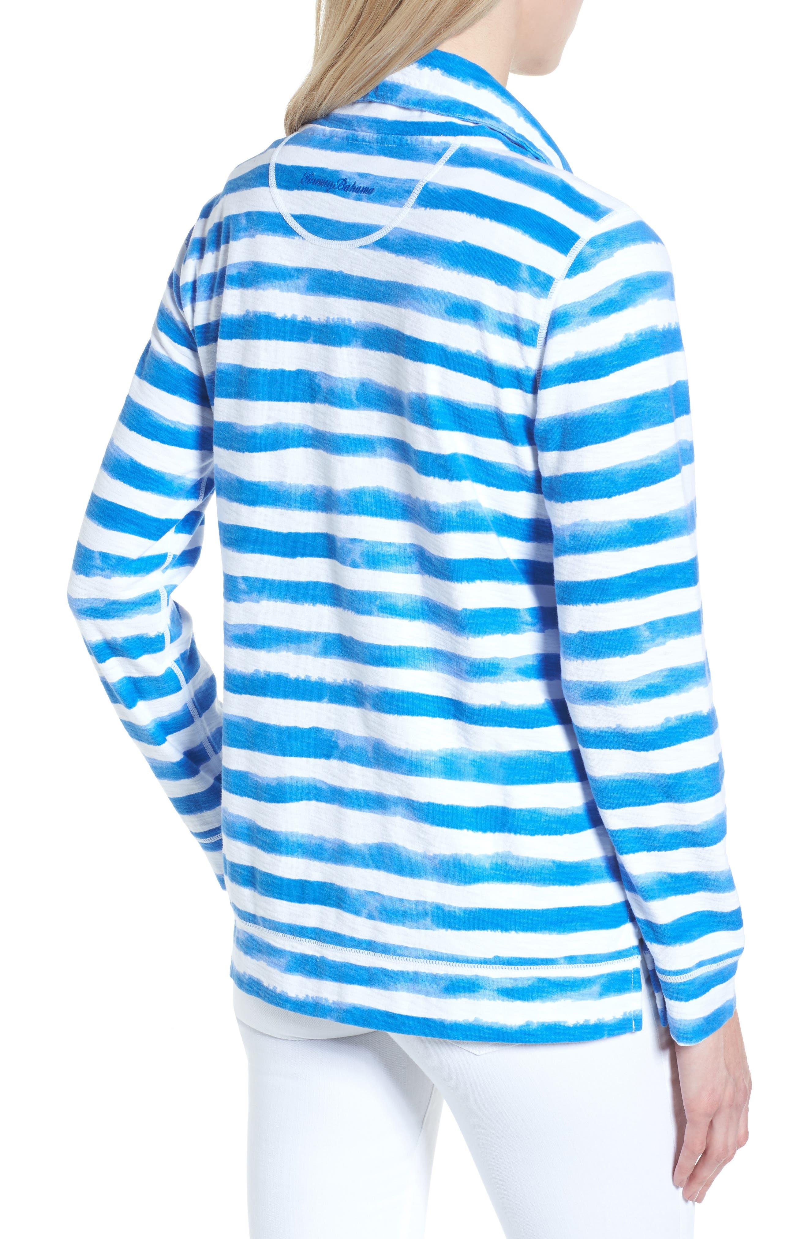 Knoll Bellarossa Stripe Front Zip Jacket,                             Alternate thumbnail 2, color,                             COBALT