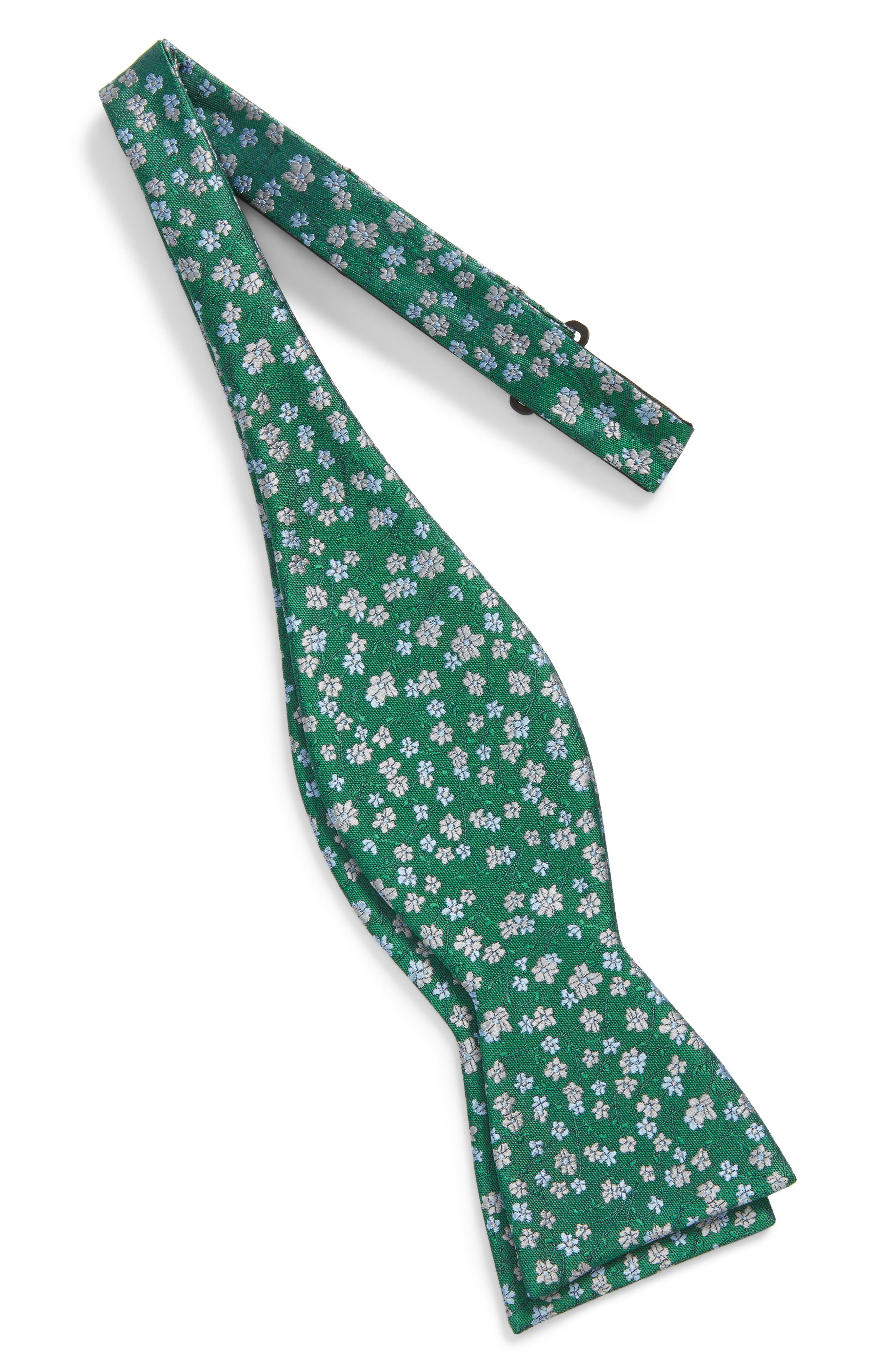 Free Fall Floral Silk Bow Tie,                             Alternate thumbnail 4, color,