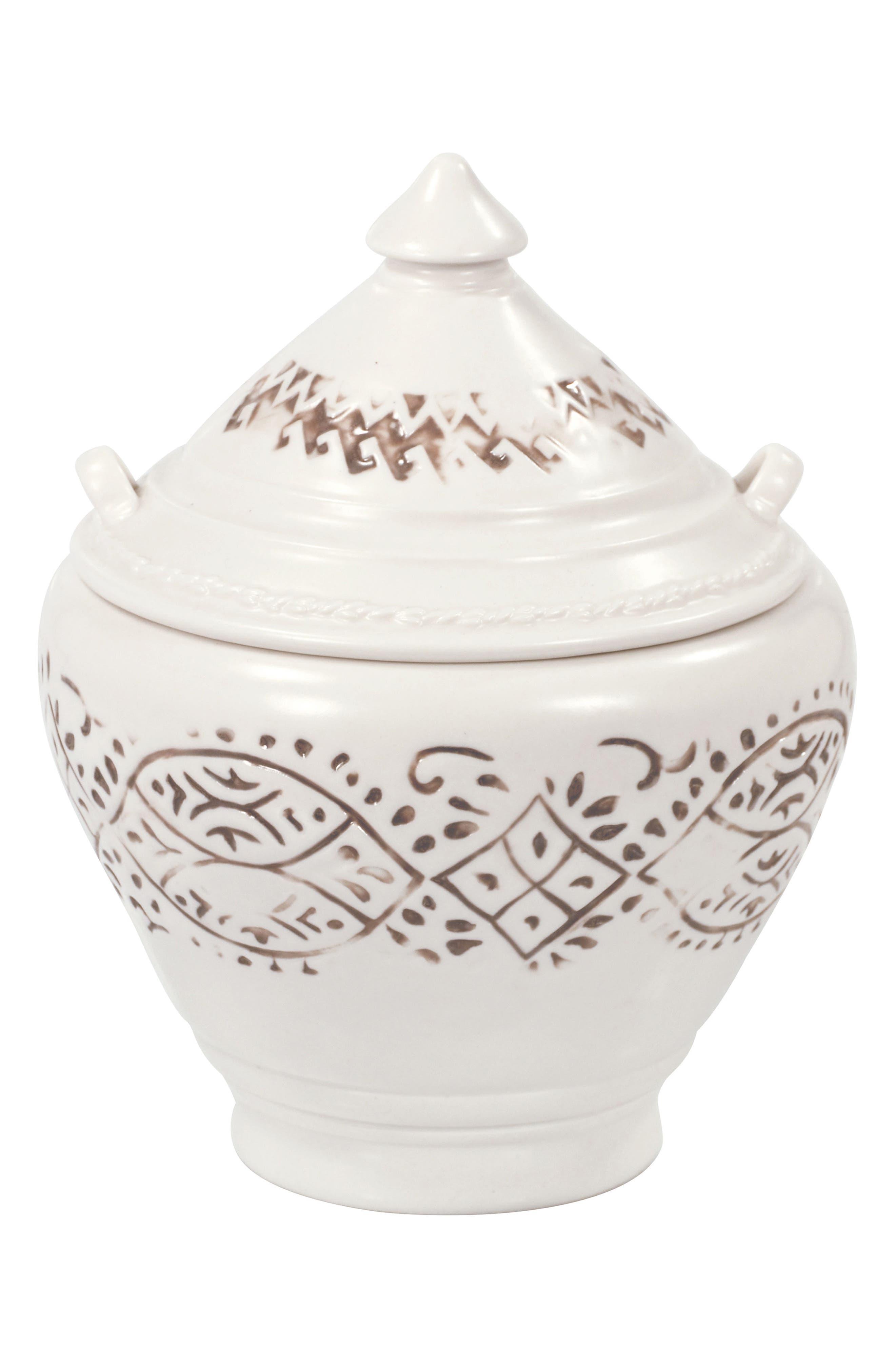 Lakki Covered Porcelain Jar,                             Main thumbnail 1, color,                             265