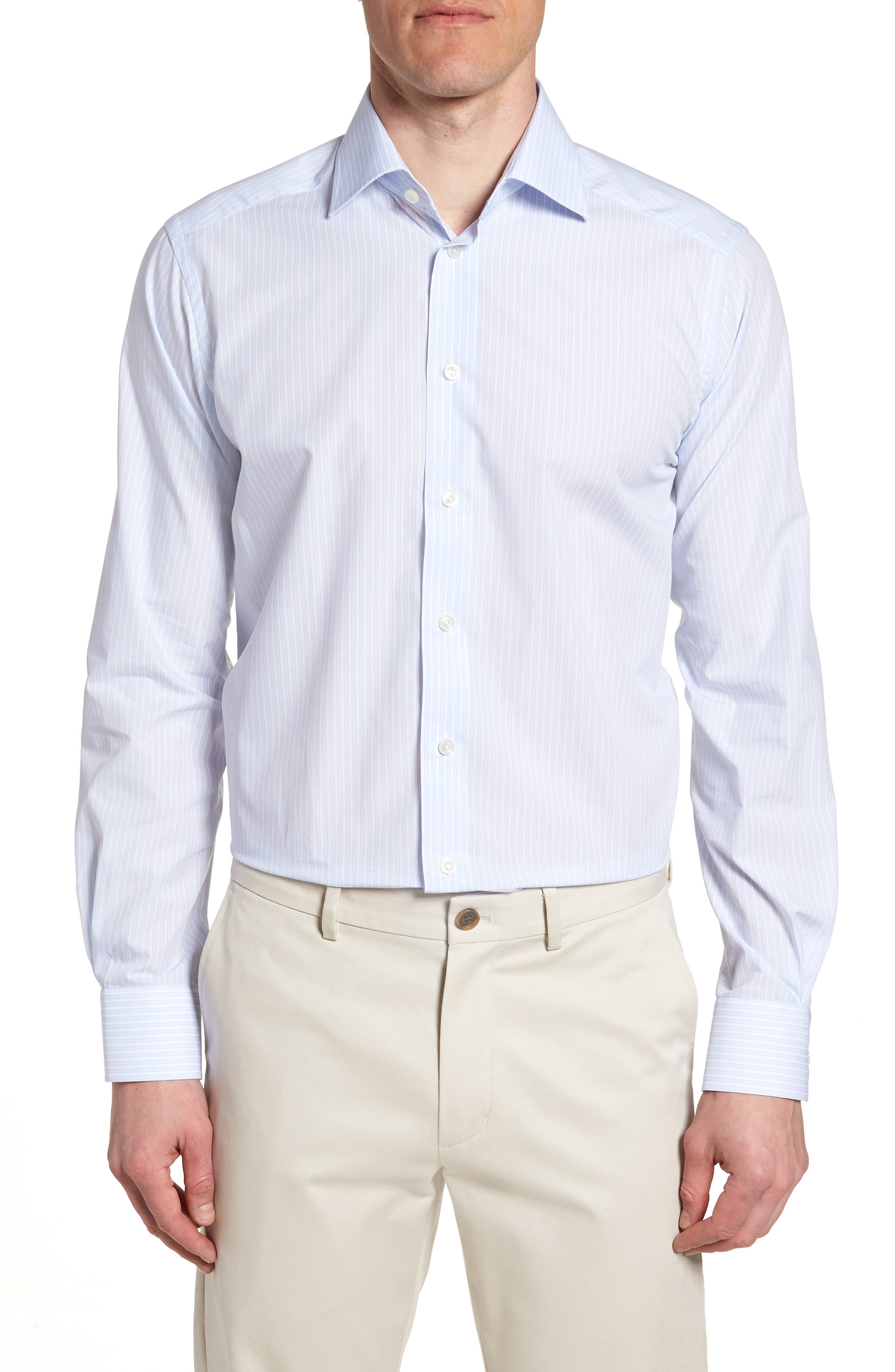 Contemporary Fit Stripe Dress Shirt,                         Main,                         color, 650