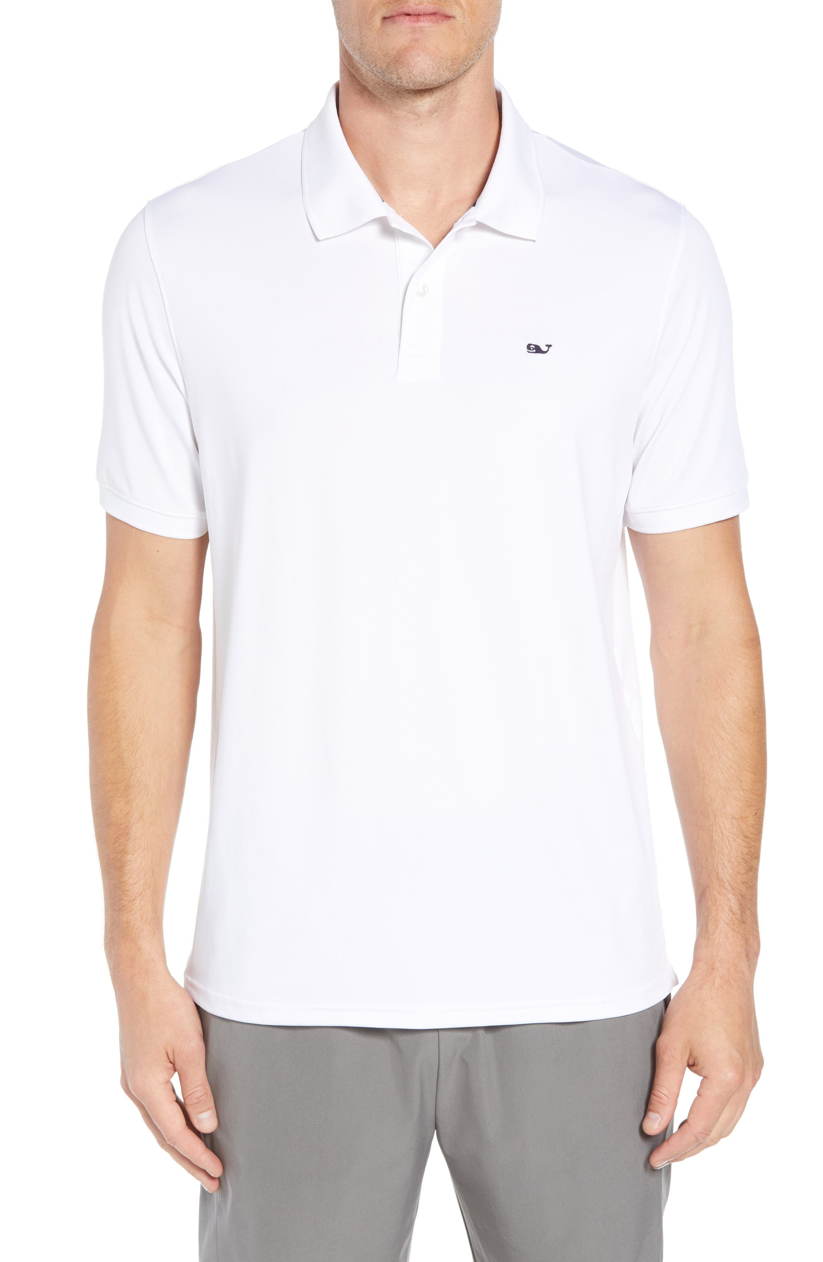 Jersey Polo,                         Main,                         color, WHITE CAP