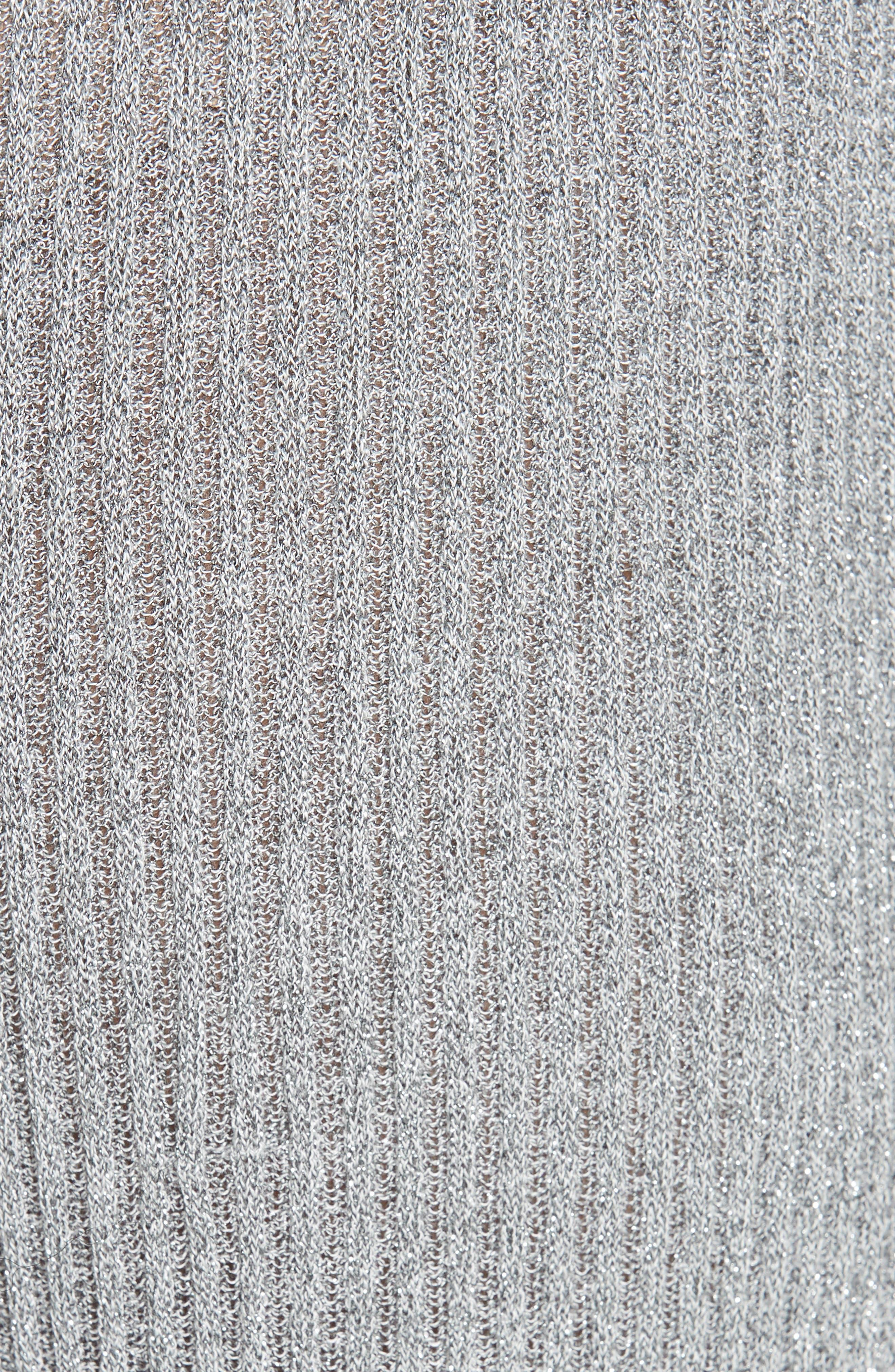 Mikhaela Knit Pants,                             Alternate thumbnail 5, color,                             SILVER