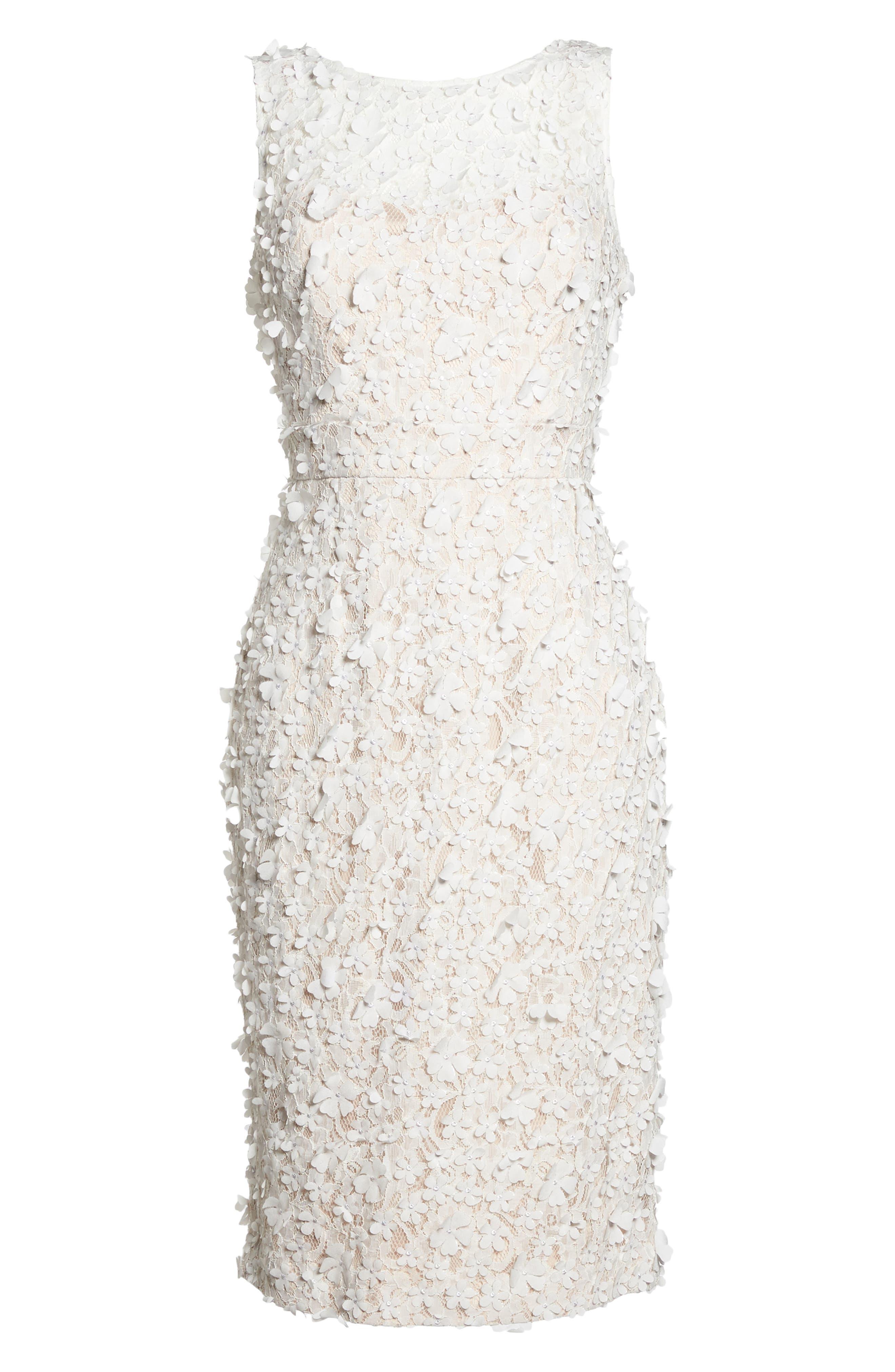 Appliqué Lace Sheath Dress,                             Alternate thumbnail 6, color,                             900