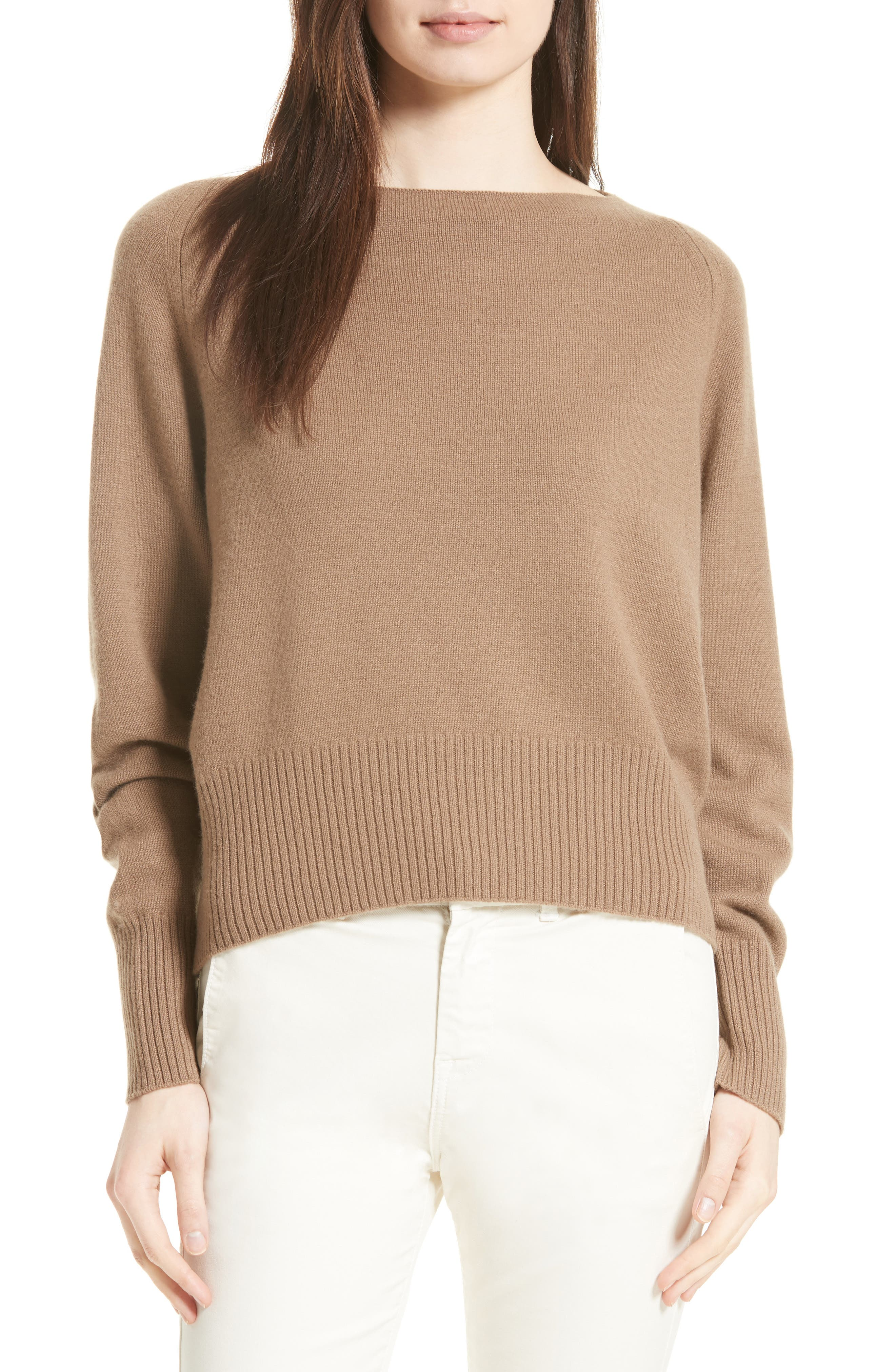 Boat Neck Cashmere Sweater,                             Main thumbnail 1, color,                             200